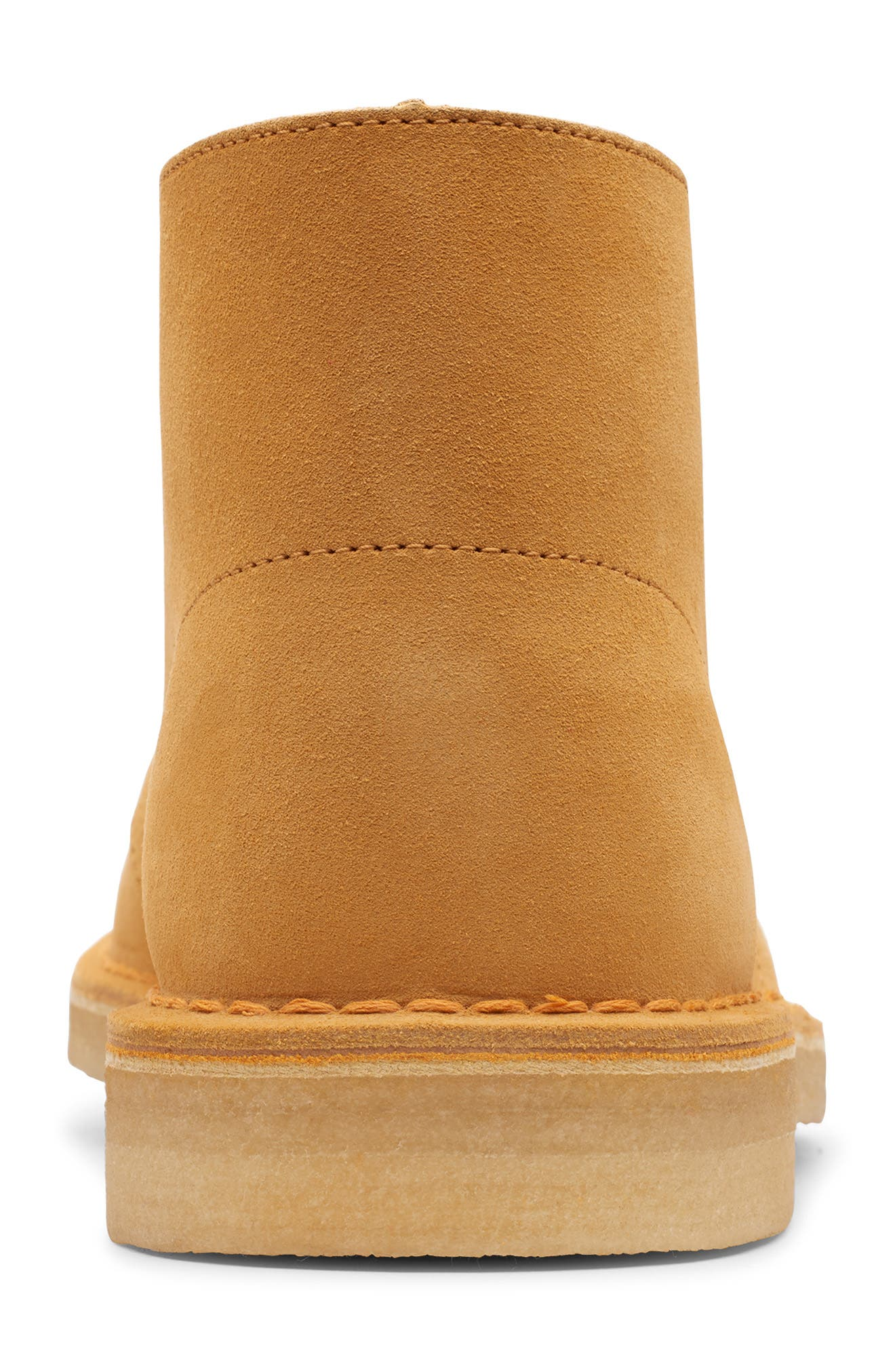 CLARKS<SUP>®</SUP>, Originals 'Desert' Boot, Alternate thumbnail 4, color, TURMERIC/BROWN SUEDE