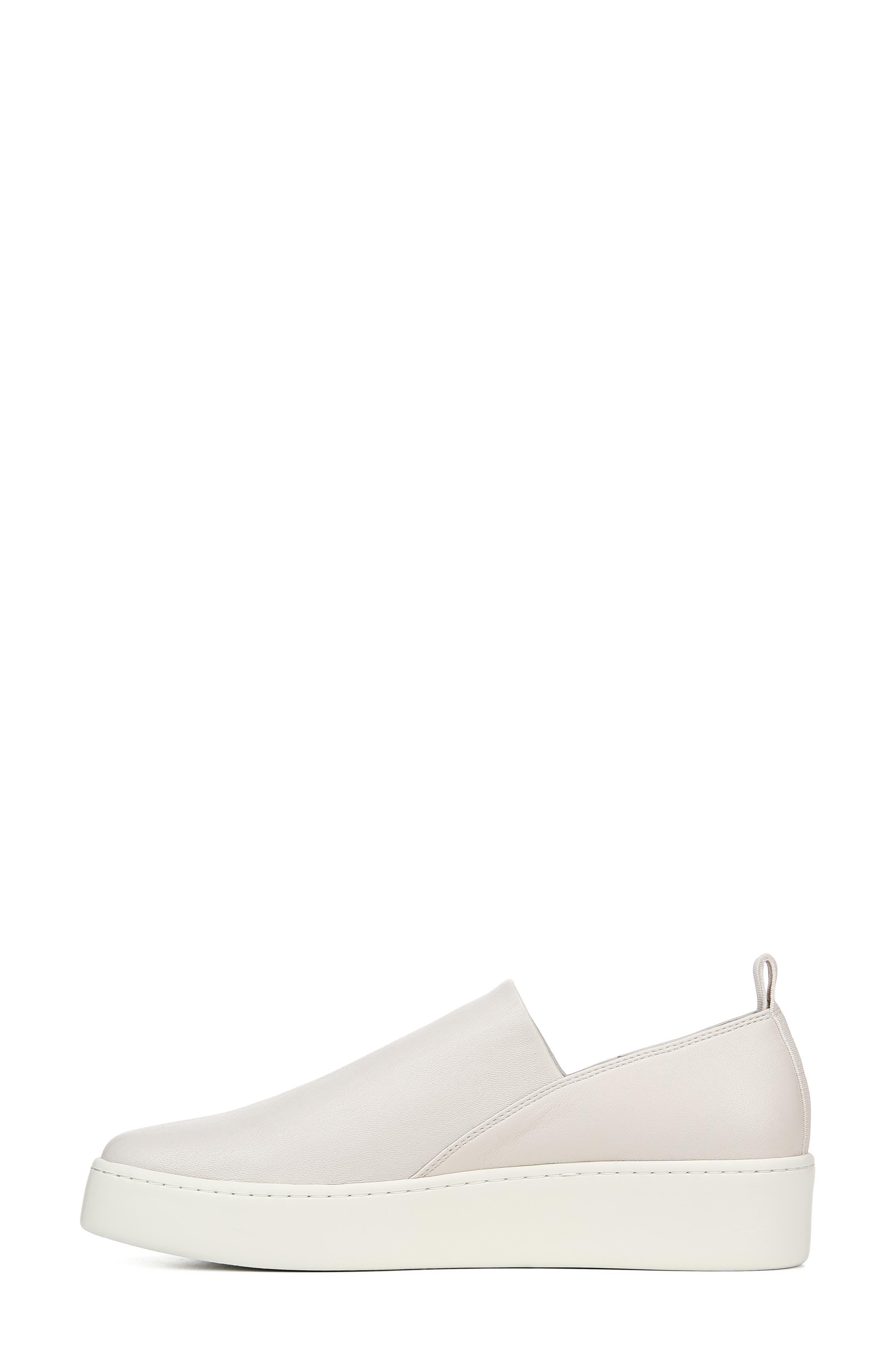VINCE, Saxon Slip-On Sneaker, Alternate thumbnail 8, color, BONE THIN STRETCH NAPPA