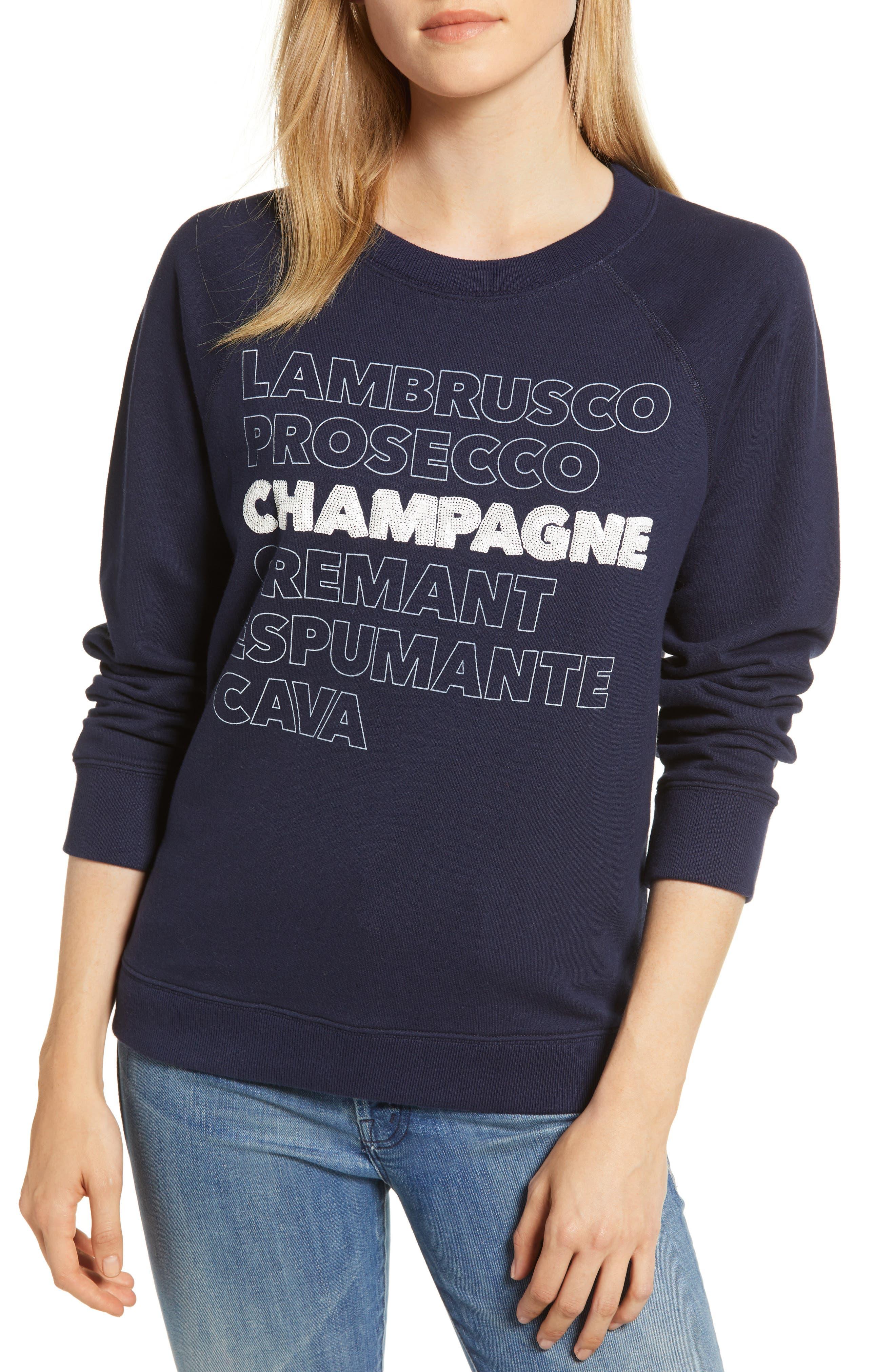J.CREW Champagne Sweatshirt, Main, color, 400