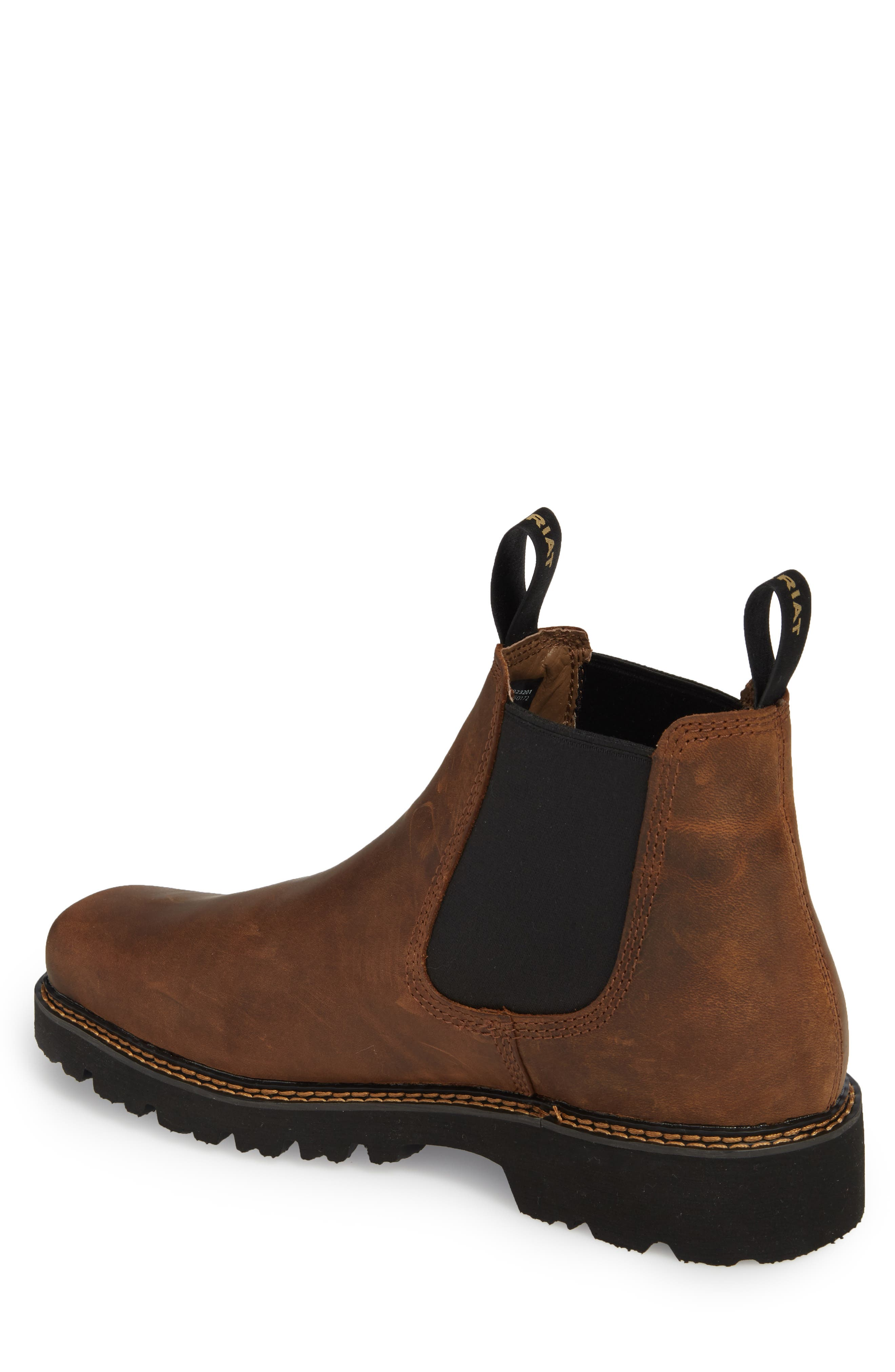 ARIAT, 'Spot Hog' Chelsea Boot, Alternate thumbnail 2, color, DISTRESSED BROWN LEATHER