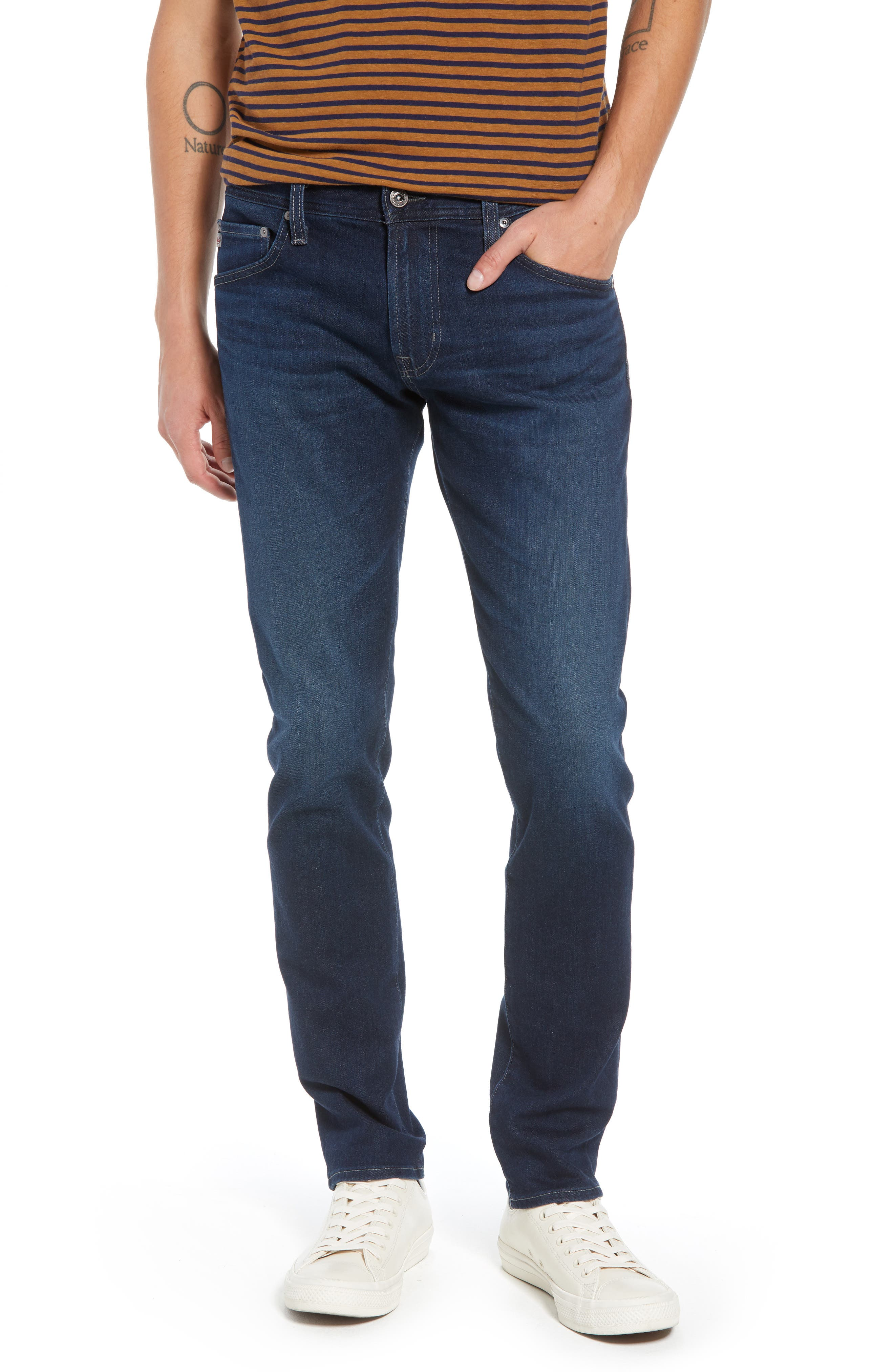 AG, Dylan Skinny Fit Jeans, Main thumbnail 1, color, BURROUGHS