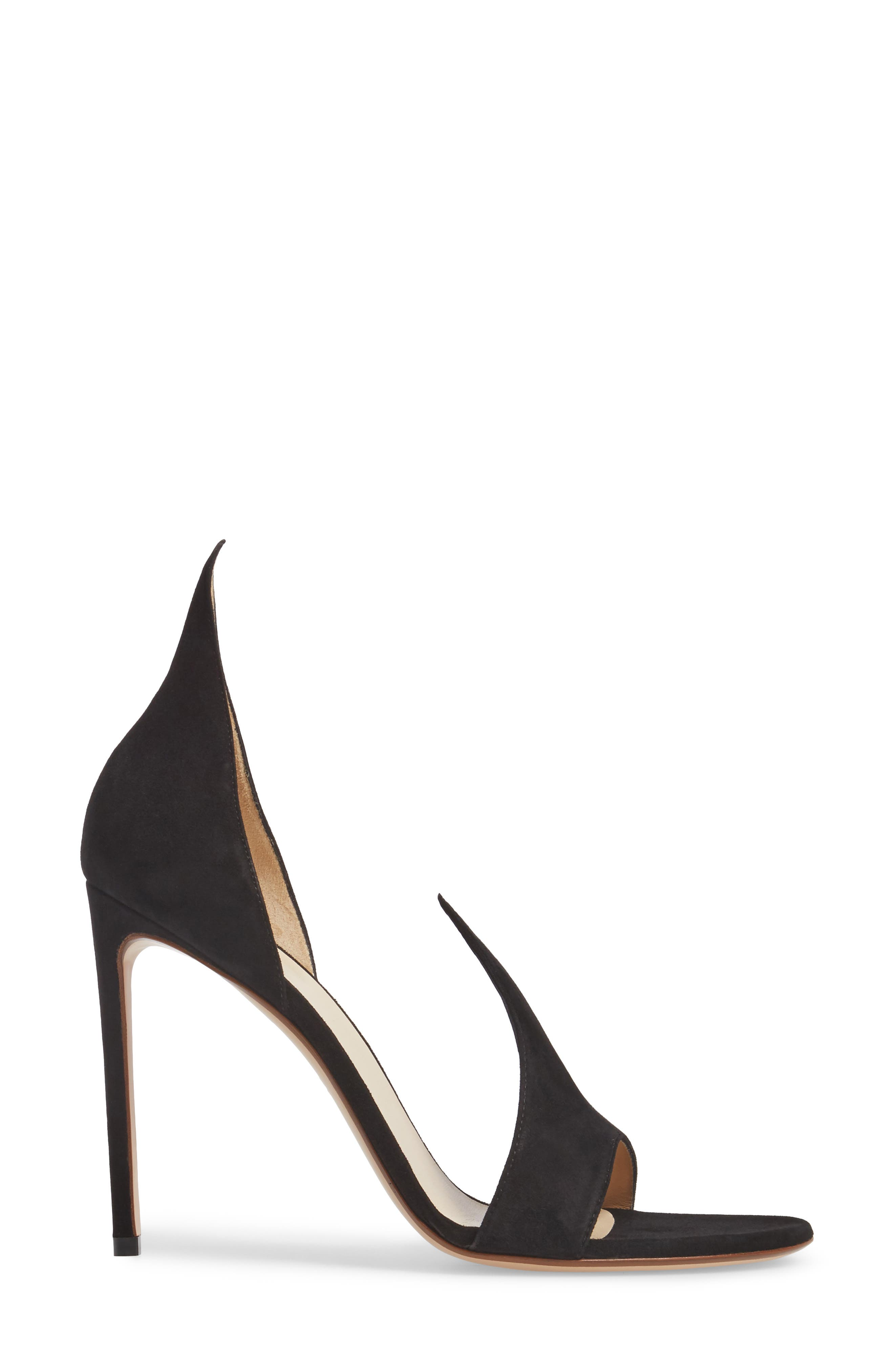 FRANCESCO RUSSO, Flame Sandal, Alternate thumbnail 3, color, BLACK