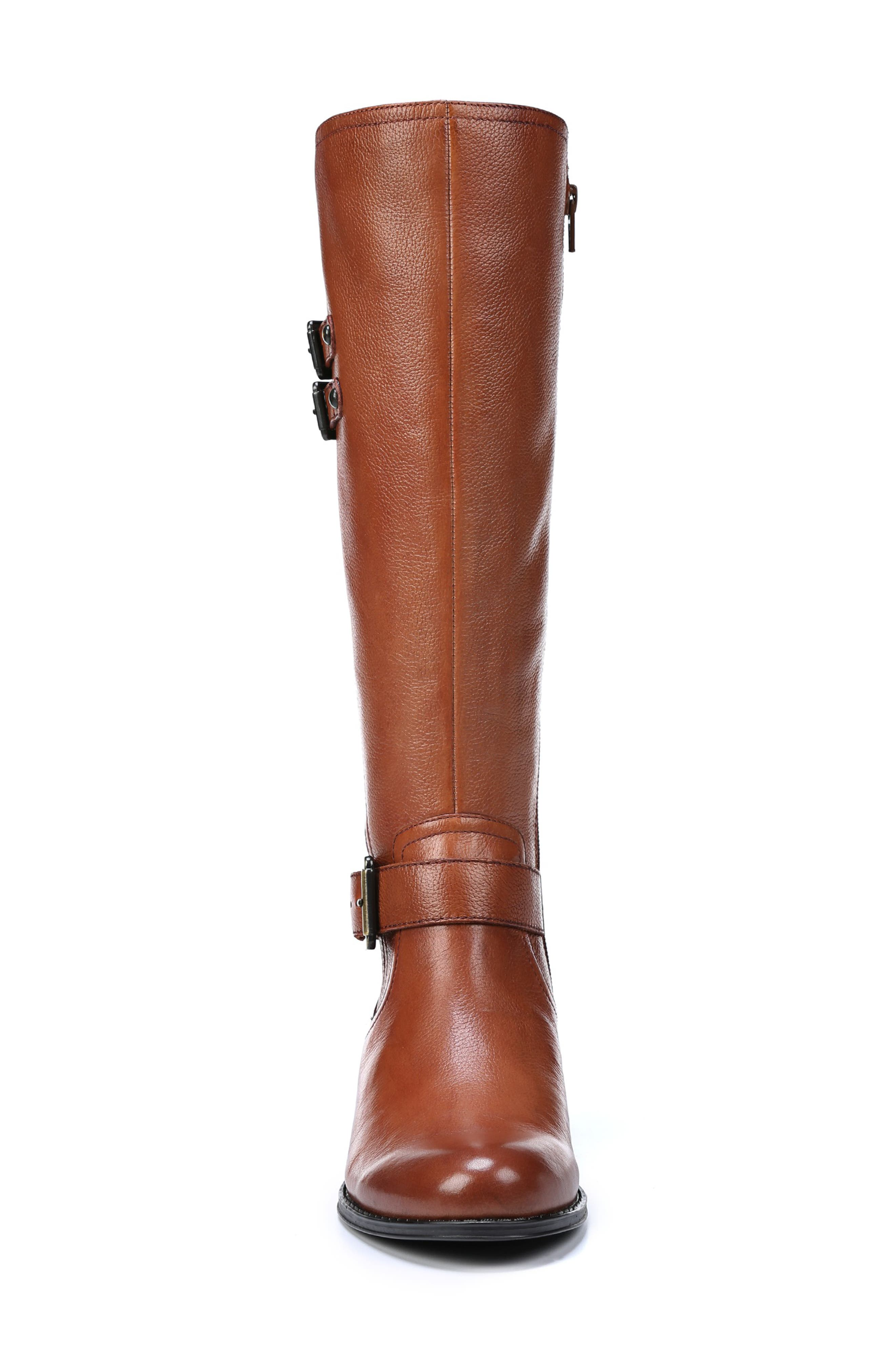 NATURALIZER, Jessie Knee High Riding Boot, Alternate thumbnail 4, color, BANANA BREAD LEATHER