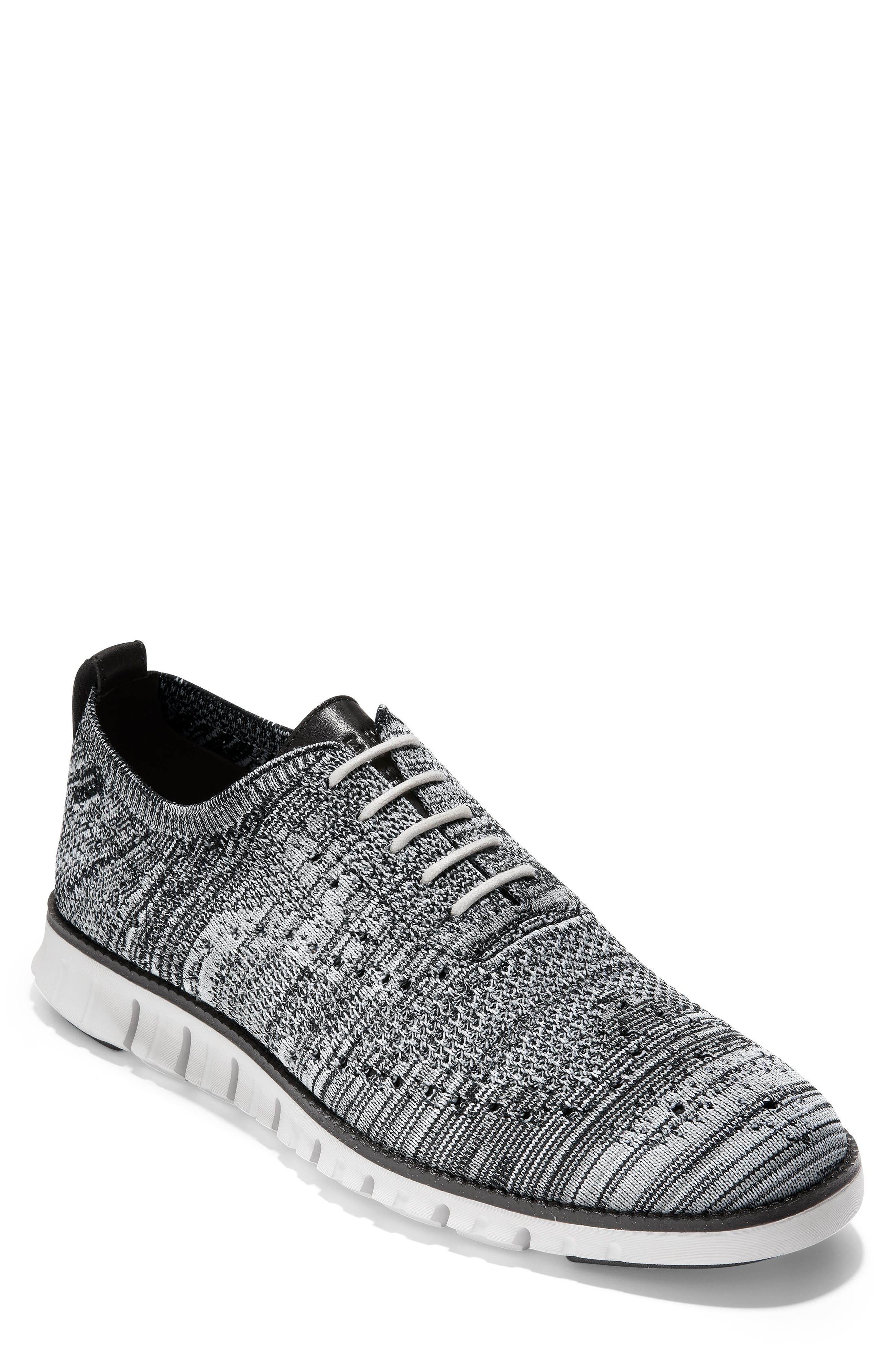 COLE HAAN ZeroGrand Stitchlite Oxford, Main, color, BLACK/ OPTIC WHITE/ SLEET KNIT