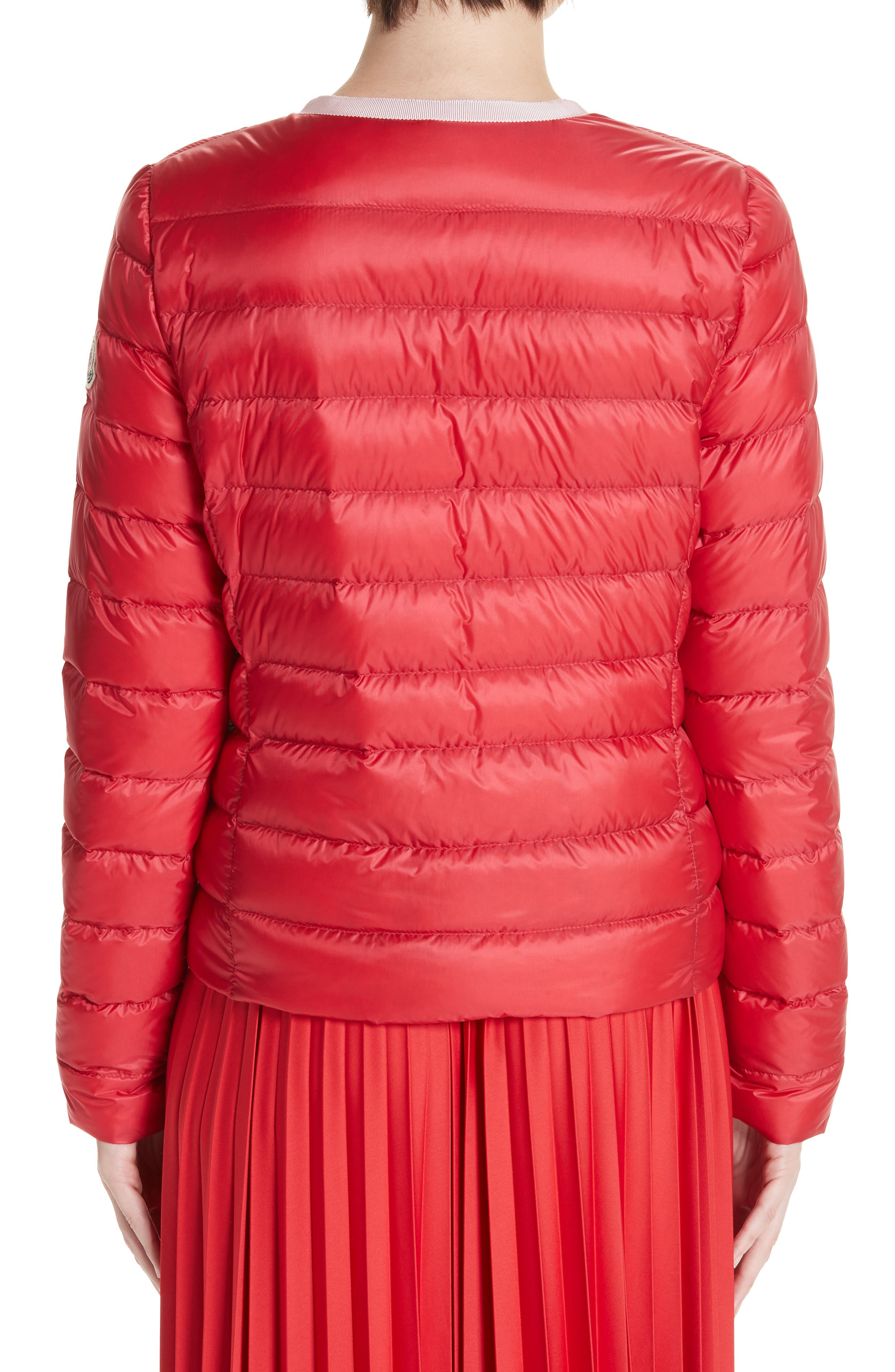 MONCLER, Cristalline Jacket, Alternate thumbnail 2, color, RED