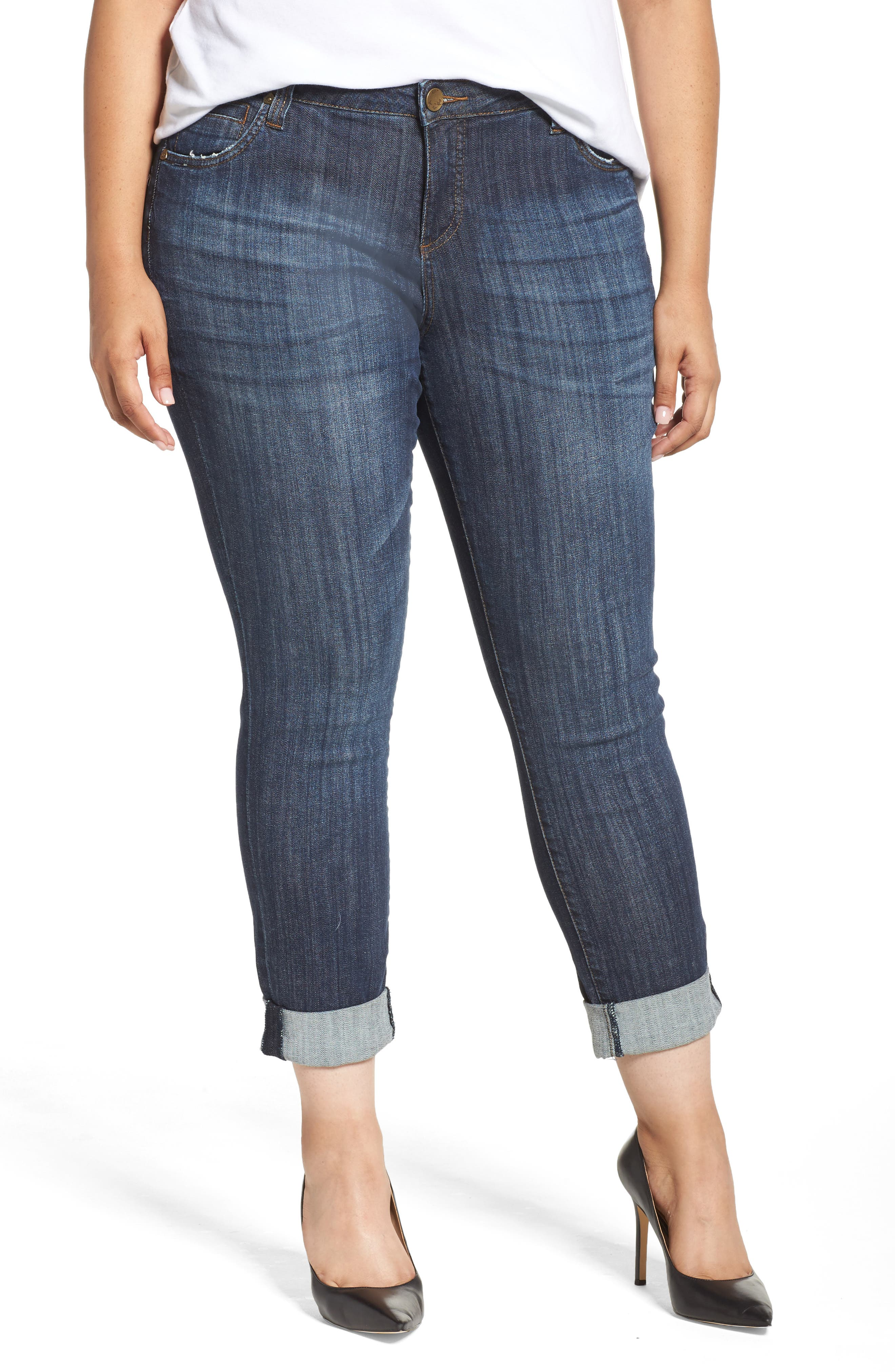 Plus  Women's Kut From The Kloth Catherine Boyfriend Jeans,  14W - Blue