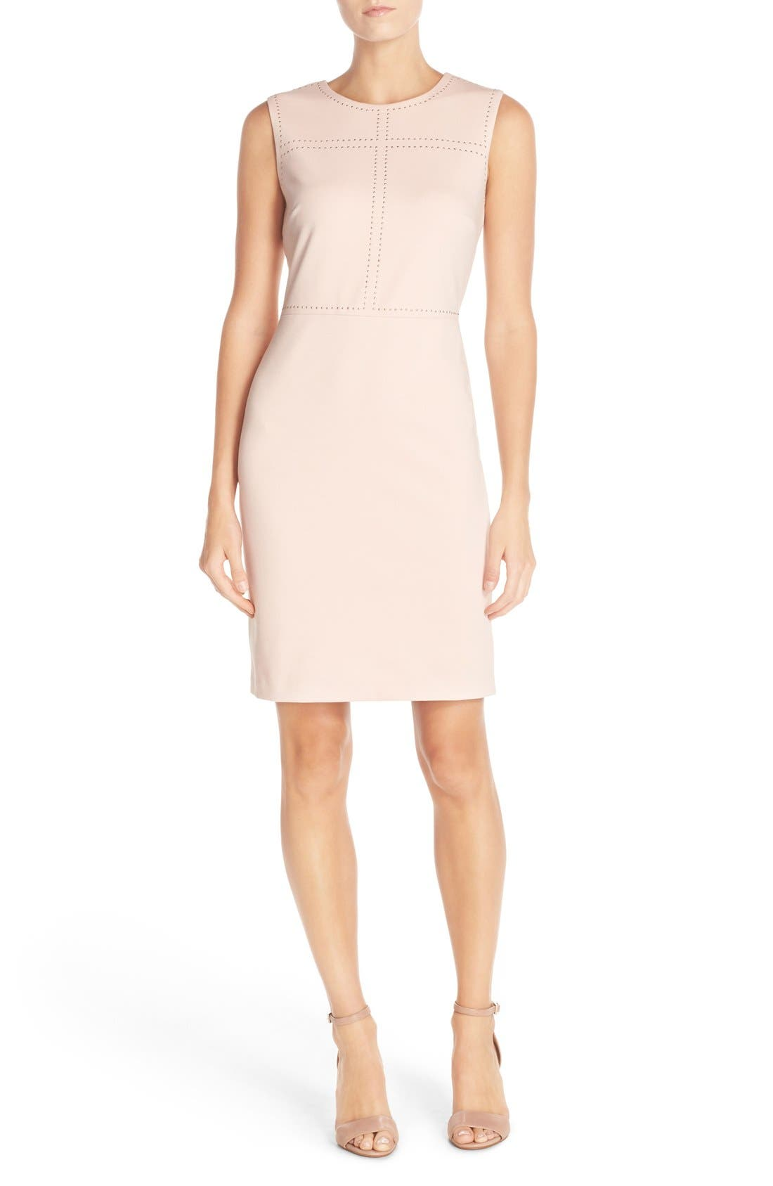 IVANKA TRUMP Sleeveless Sheath Dress, Main, color, 650