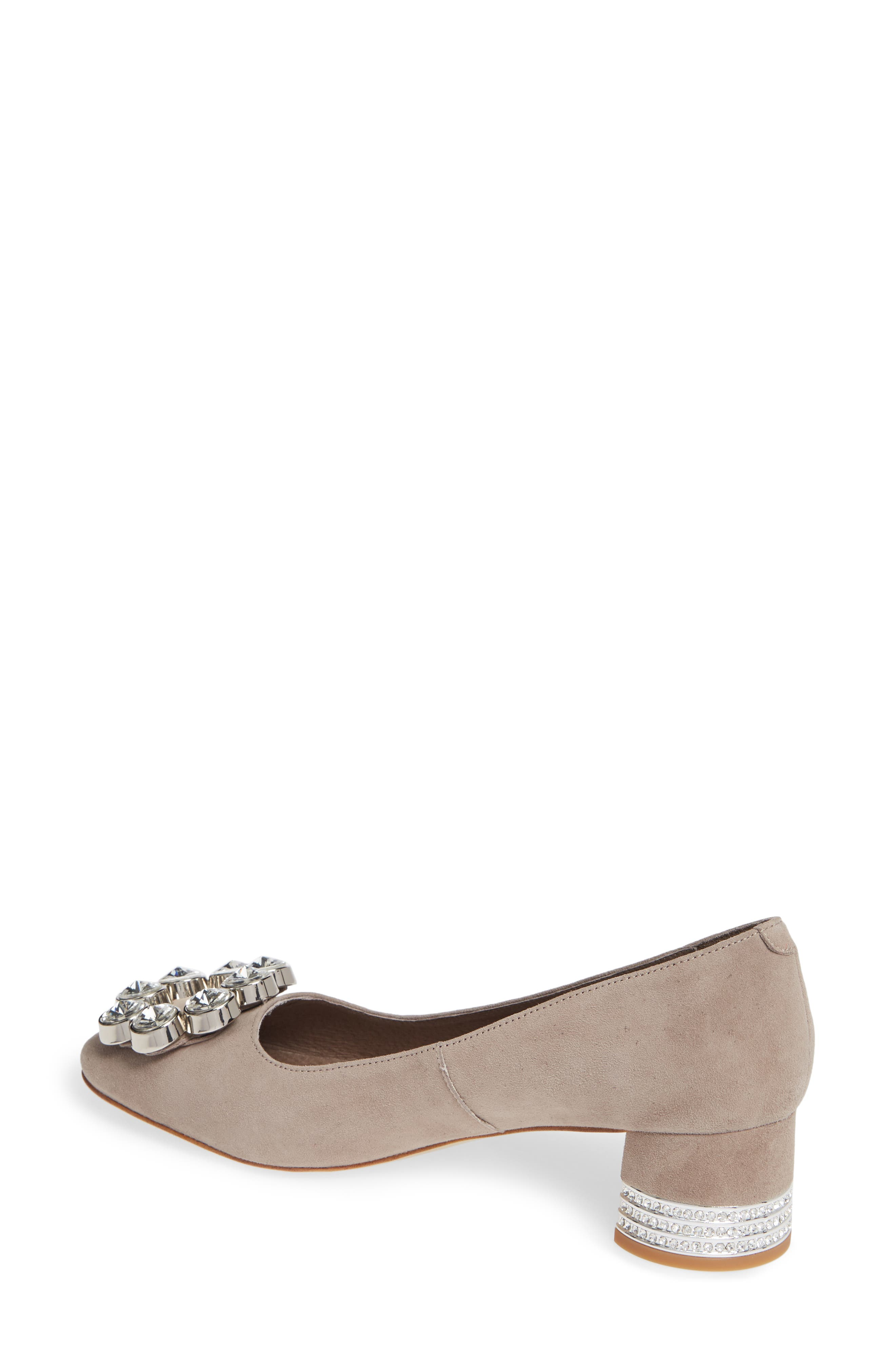 JEFFREY CAMPBELL, Carys Pump, Alternate thumbnail 2, color, TAUPE SUEDE