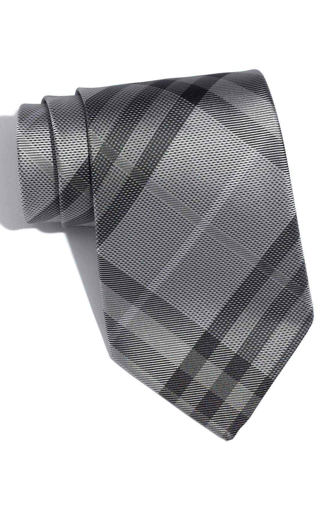 BURBERRY, London 'Regent' Woven Silk Tie, Main thumbnail 1, color, 050