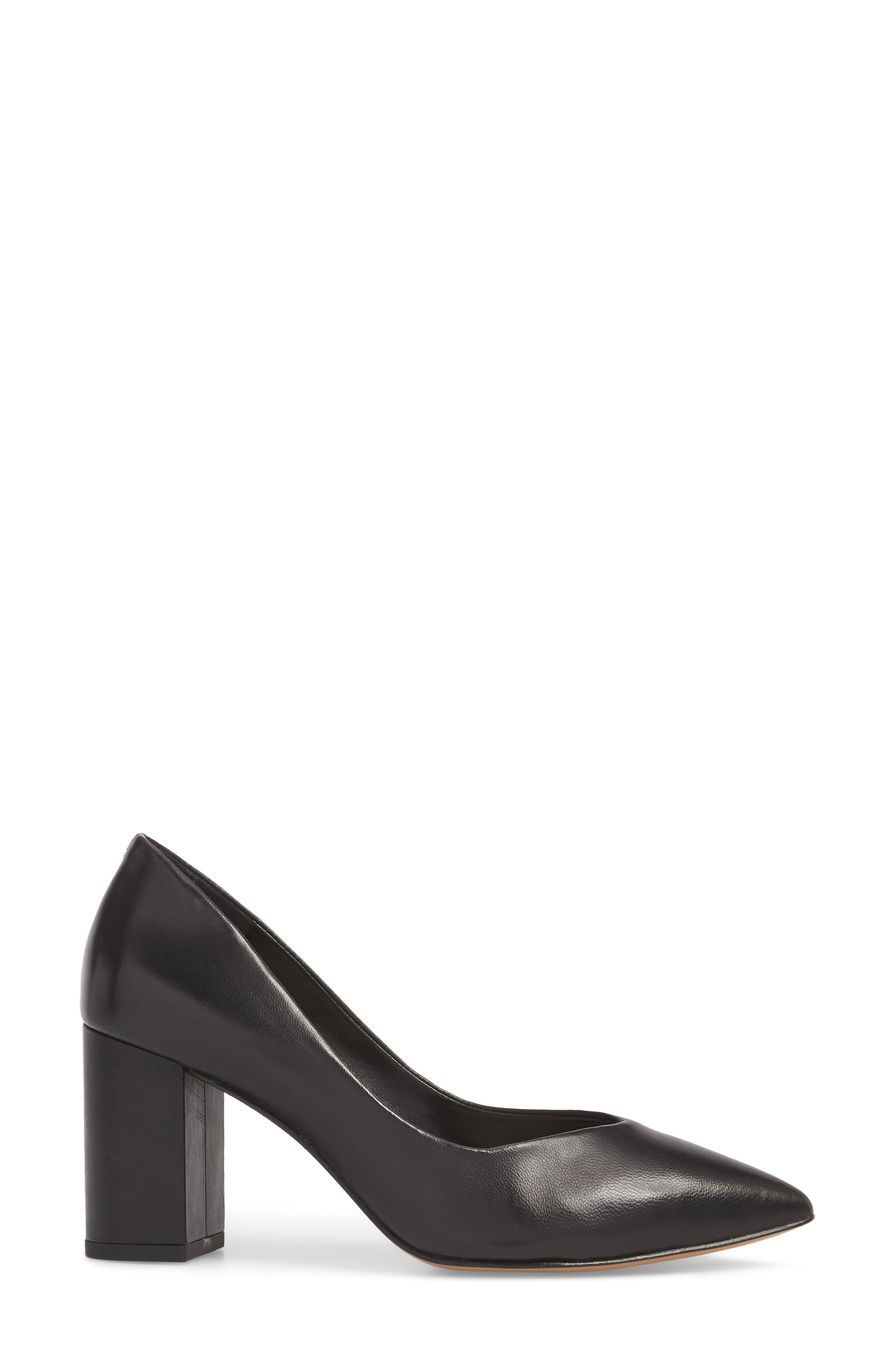 1.STATE, Saffy Block Heel Pump, Alternate thumbnail 3, color, BLACK LEATHER