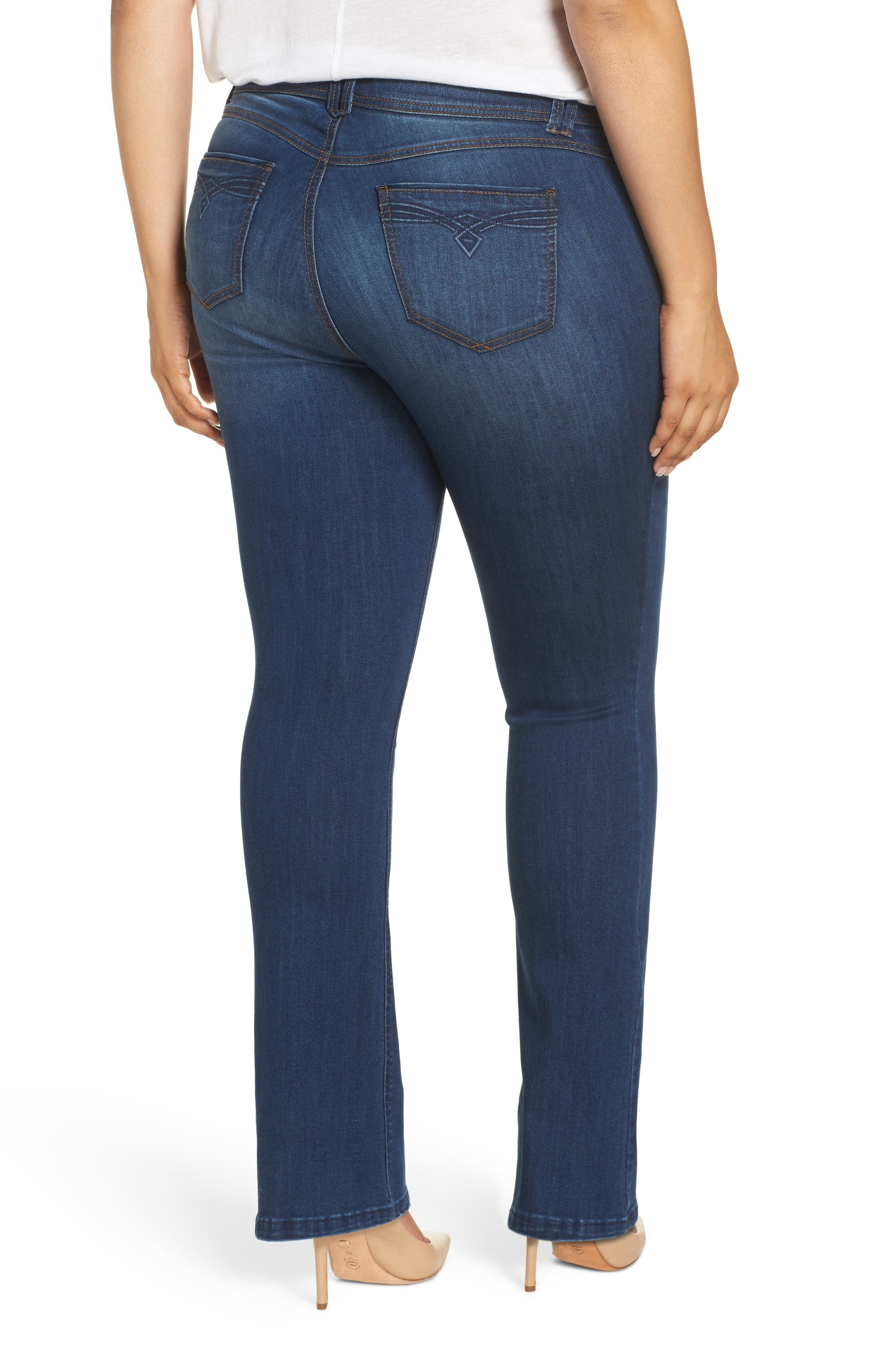 WIT & WISDOM, Ab-Solution Itty Bitty Bootcut Jeans, Alternate thumbnail 2, color, BLUE