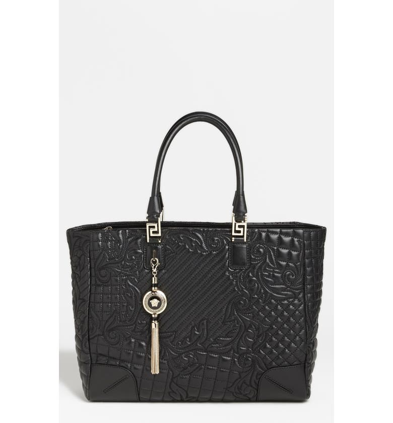 f42696df1ef VERSACE 'Vanitas' Embroidered Leather Tote, Main, color, ...