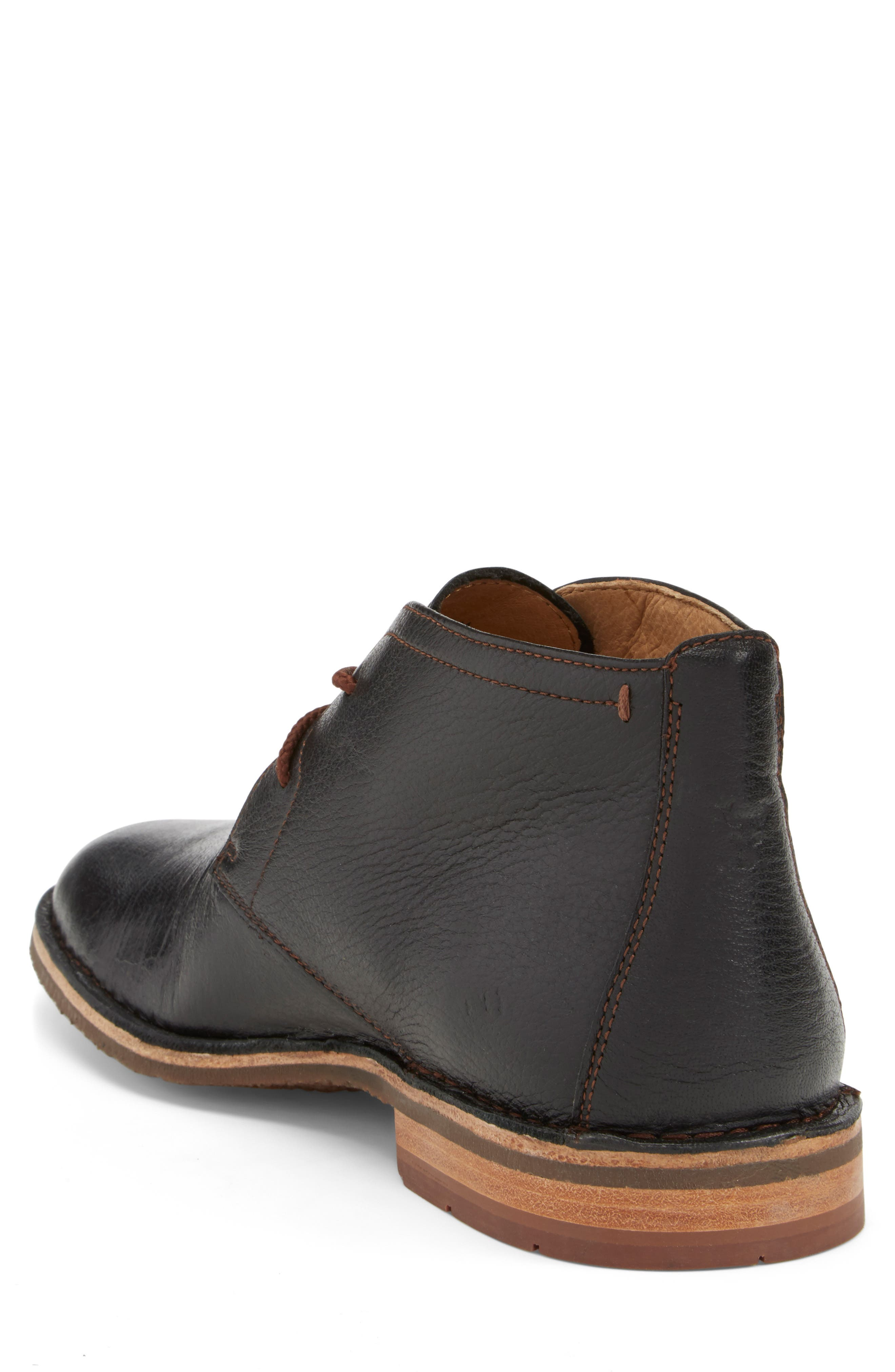 TRASK, 'Brady' Chukka Boot, Alternate thumbnail 4, color, BLACK NORWEGIAN ELK