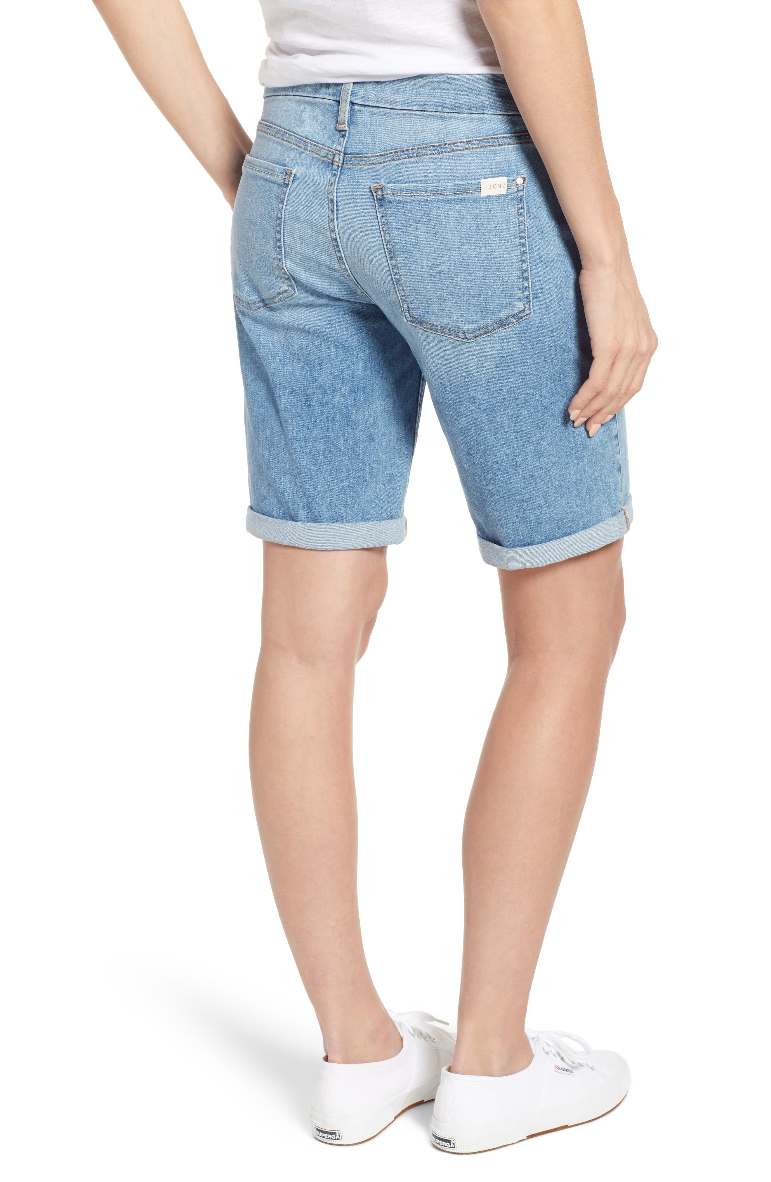 JEN7 BY 7 FOR ALL MANKIND, Roll Cuff Bermuda Shorts, Alternate thumbnail 2, color, LA QUINTA