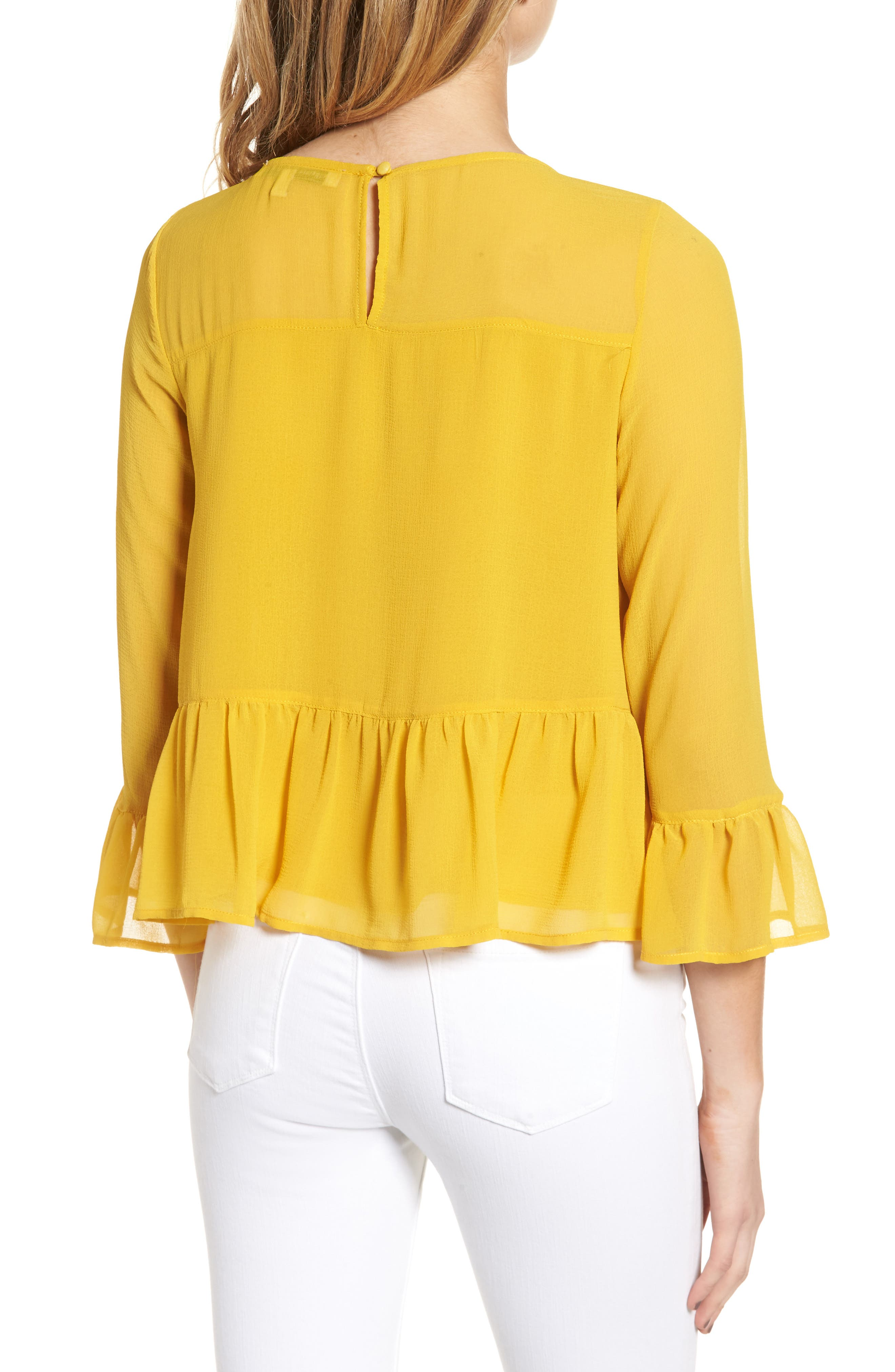 CUPCAKES AND CASHMERE, Katlyn Peplum Top, Alternate thumbnail 2, color, 700