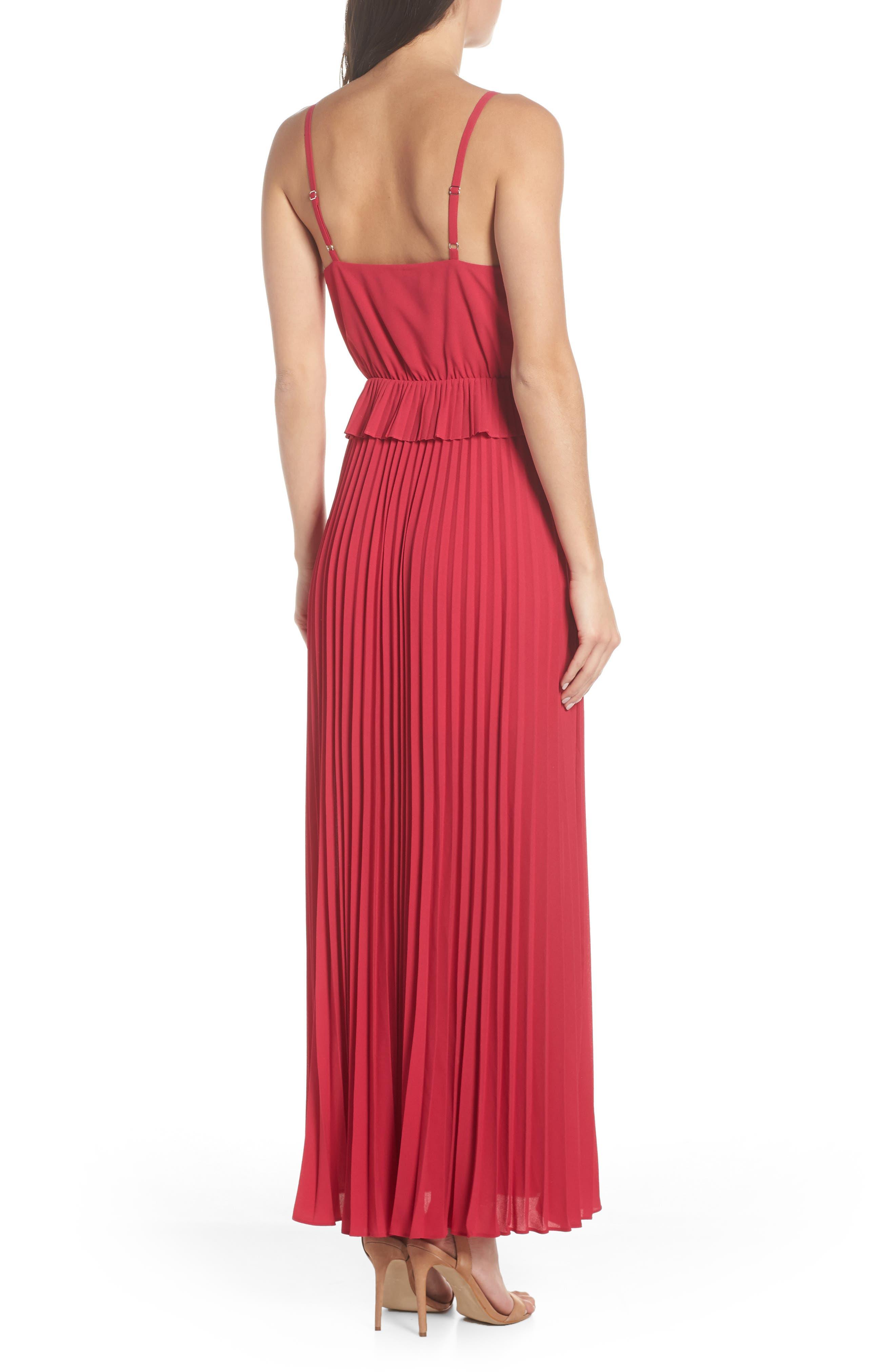 ALI & JAY, Olivet Pleated Maxi Dress, Alternate thumbnail 2, color, RASPBERRY