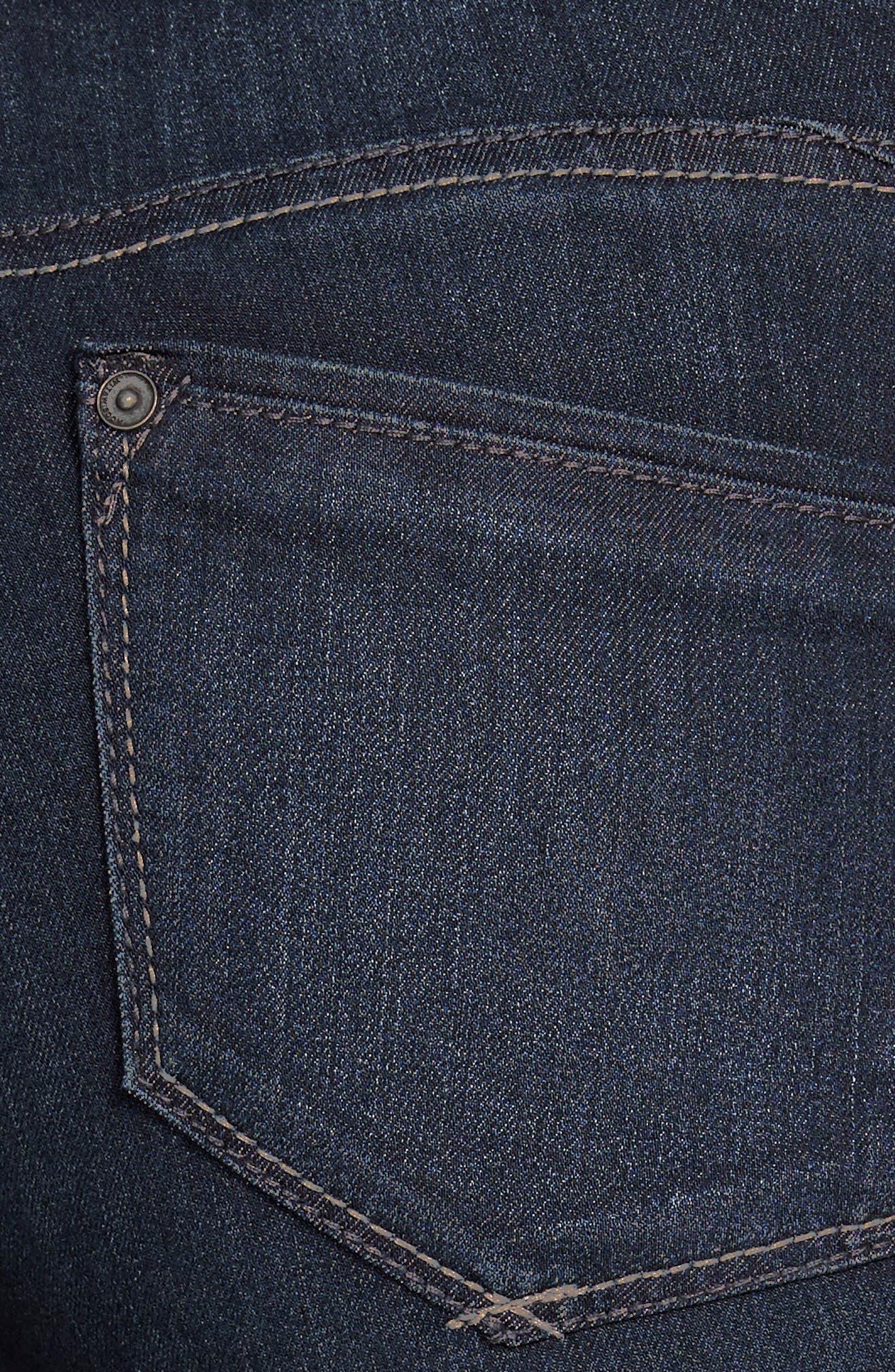 WIT & WISDOM, Super Smooth Stretch Denim Skinny Jeans, Alternate thumbnail 4, color, DARK NAVY
