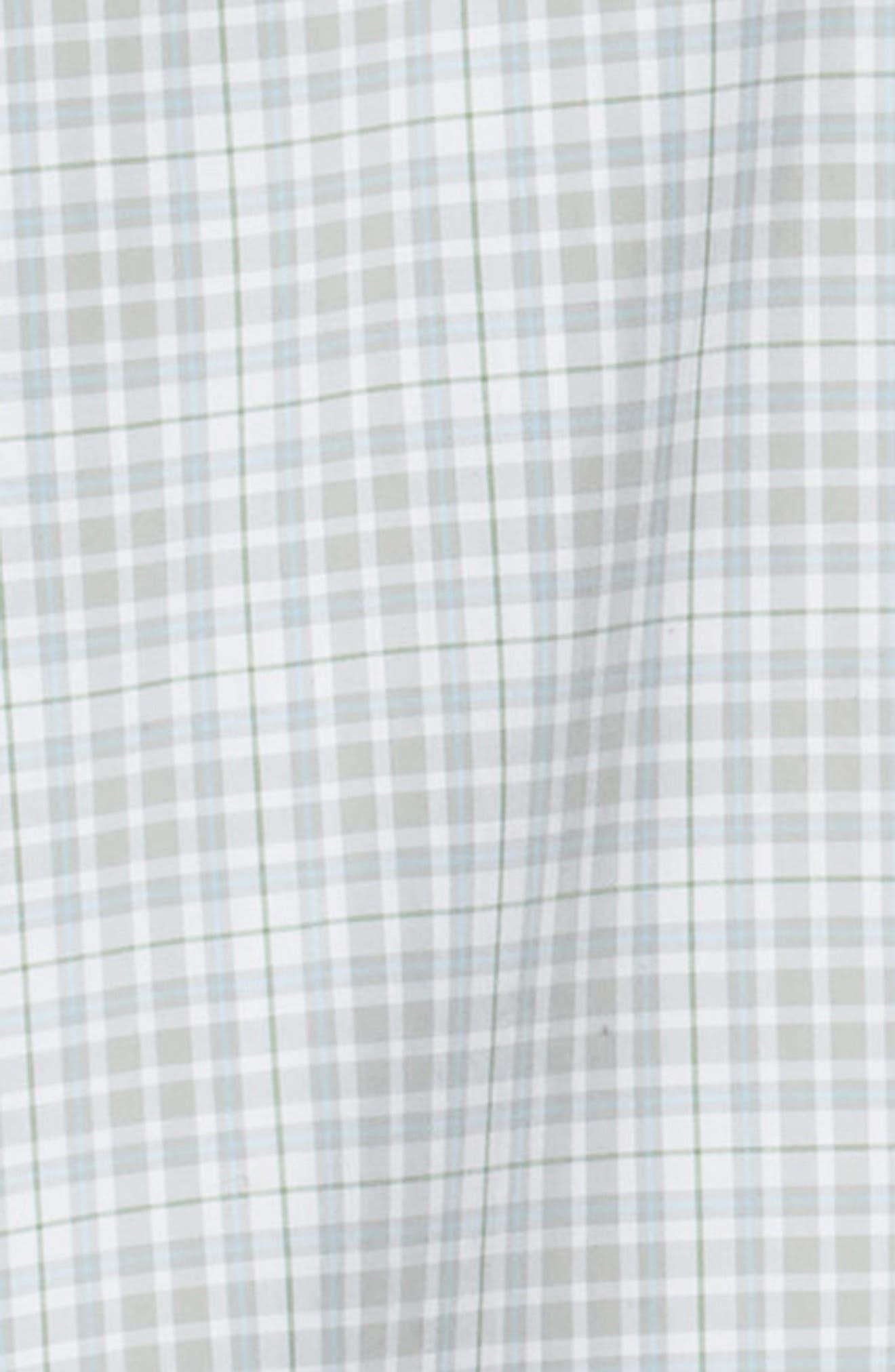 PETER MILLAR, Belltown Tartan Sport Shirt, Alternate thumbnail 6, color, GALE GREY
