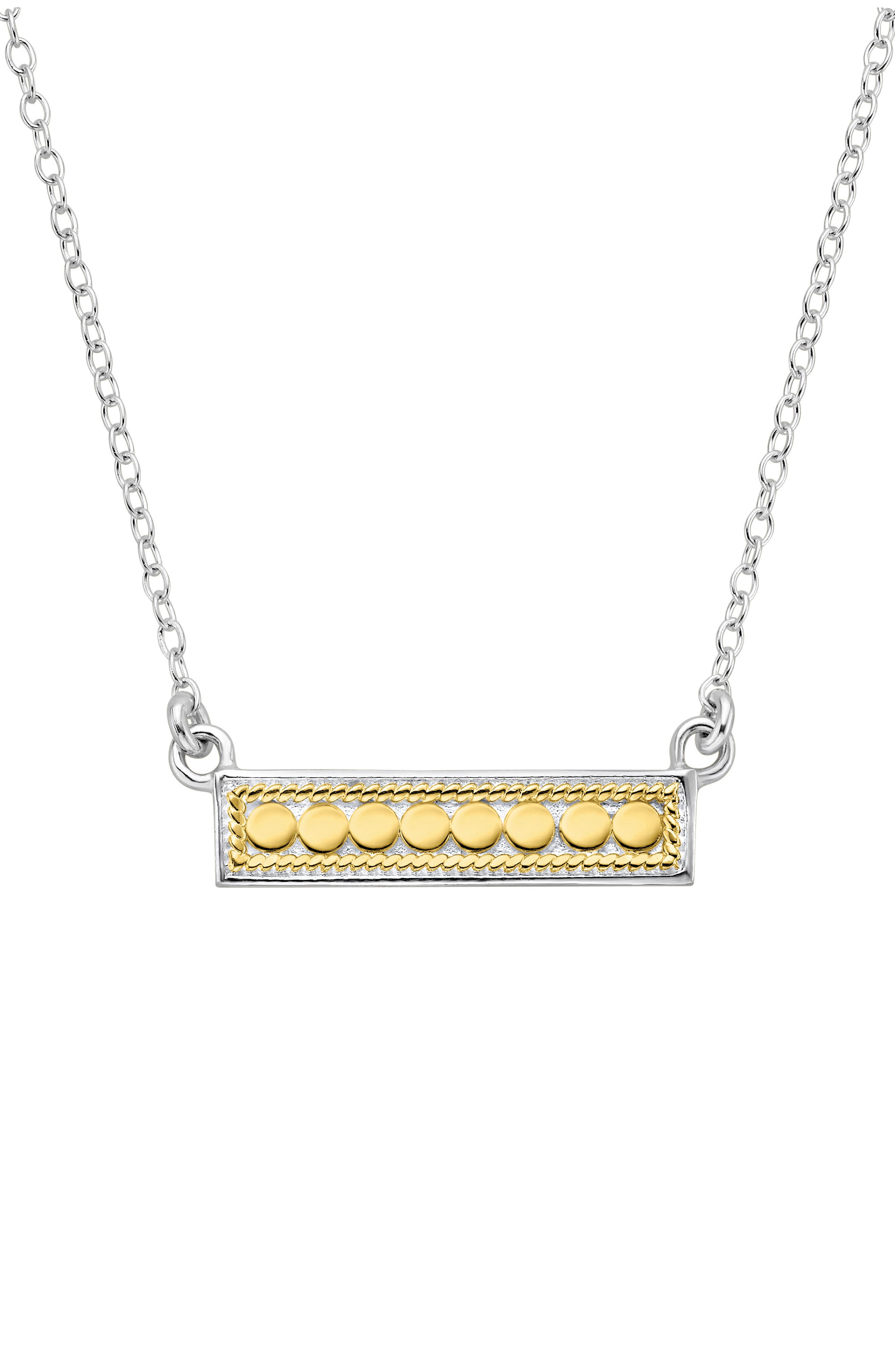 ANNA BECK Reversible Bar Necklace, Main, color, GOLD/ SILVER