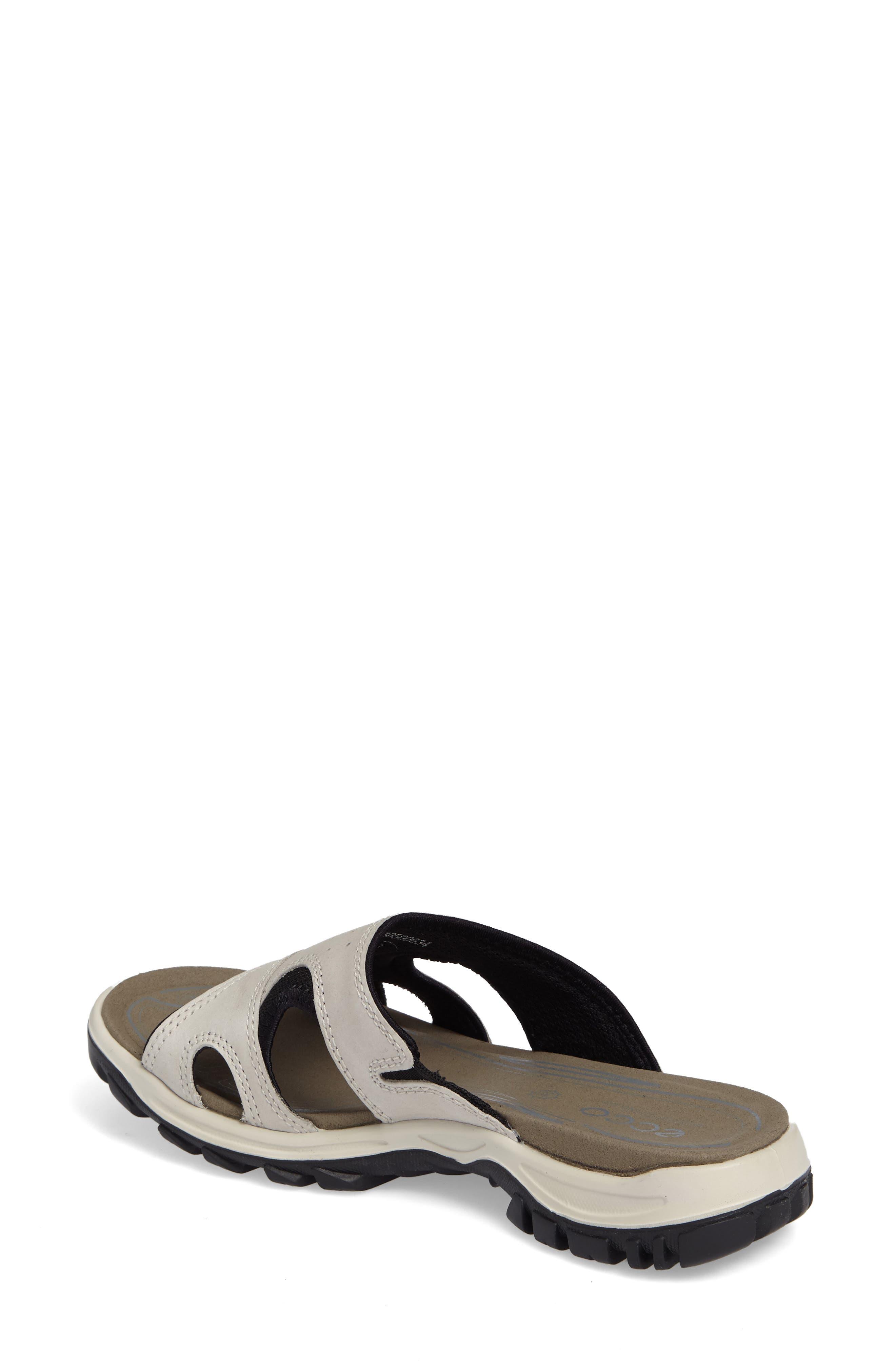 ECCO, Offroad Lite Slide Sandal, Alternate thumbnail 2, color, GRAVEL/ BLACK LEATHER