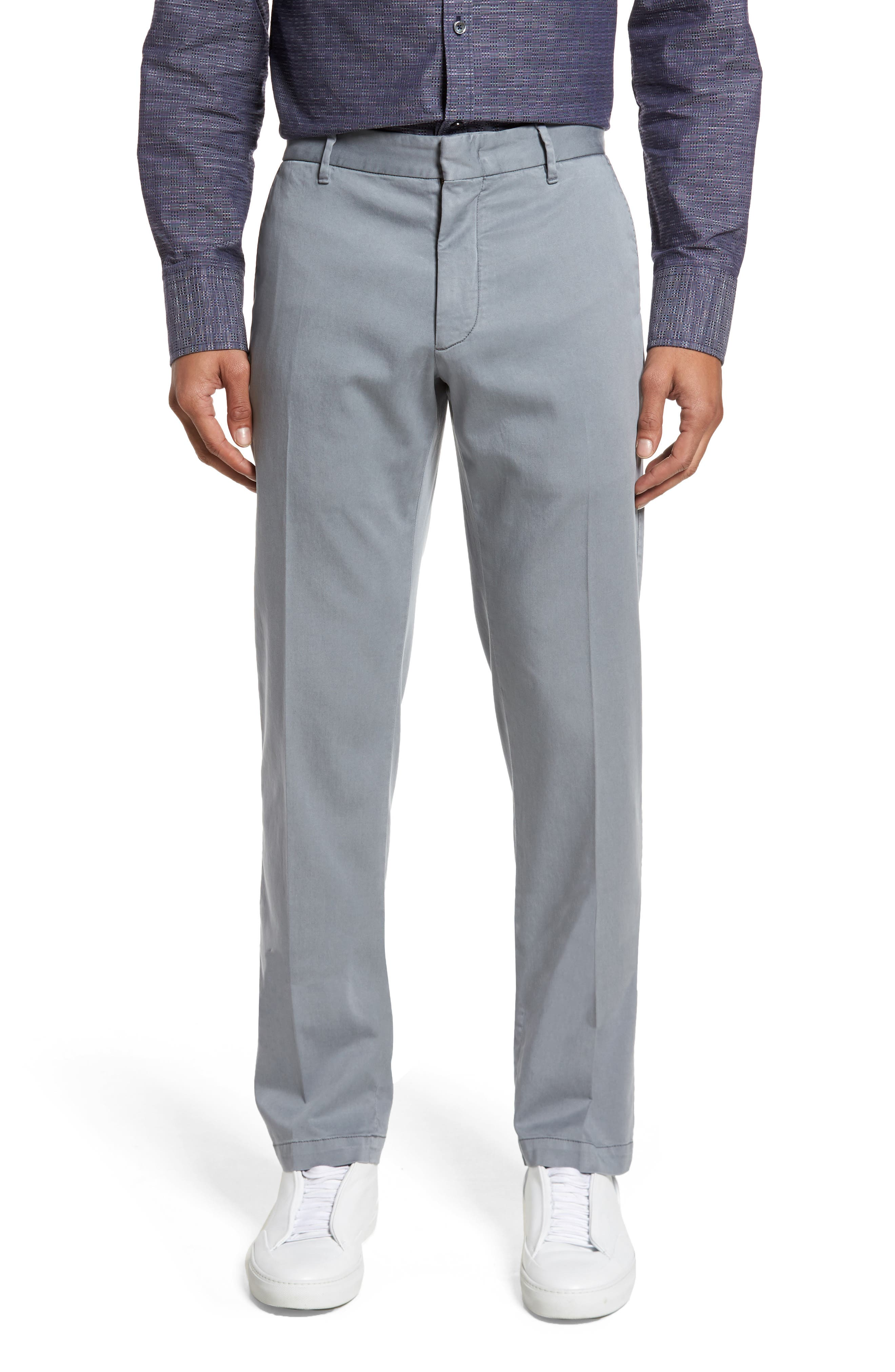 ZACHARY PRELL, Aster Straight Fit Pants, Main thumbnail 1, color, GREY