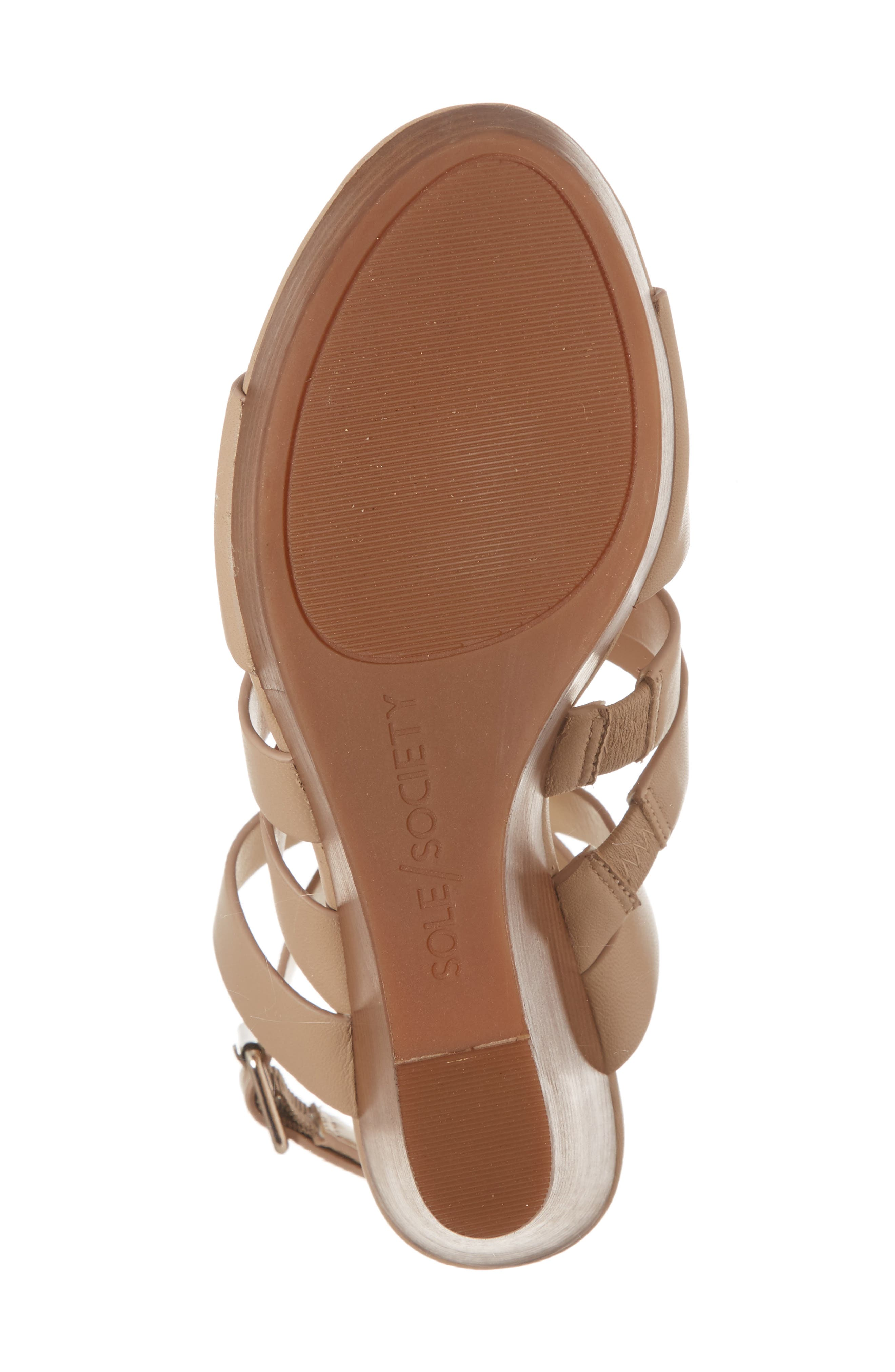 SOLE SOCIETY, Pippy Platform Sandal, Alternate thumbnail 6, color, TAN