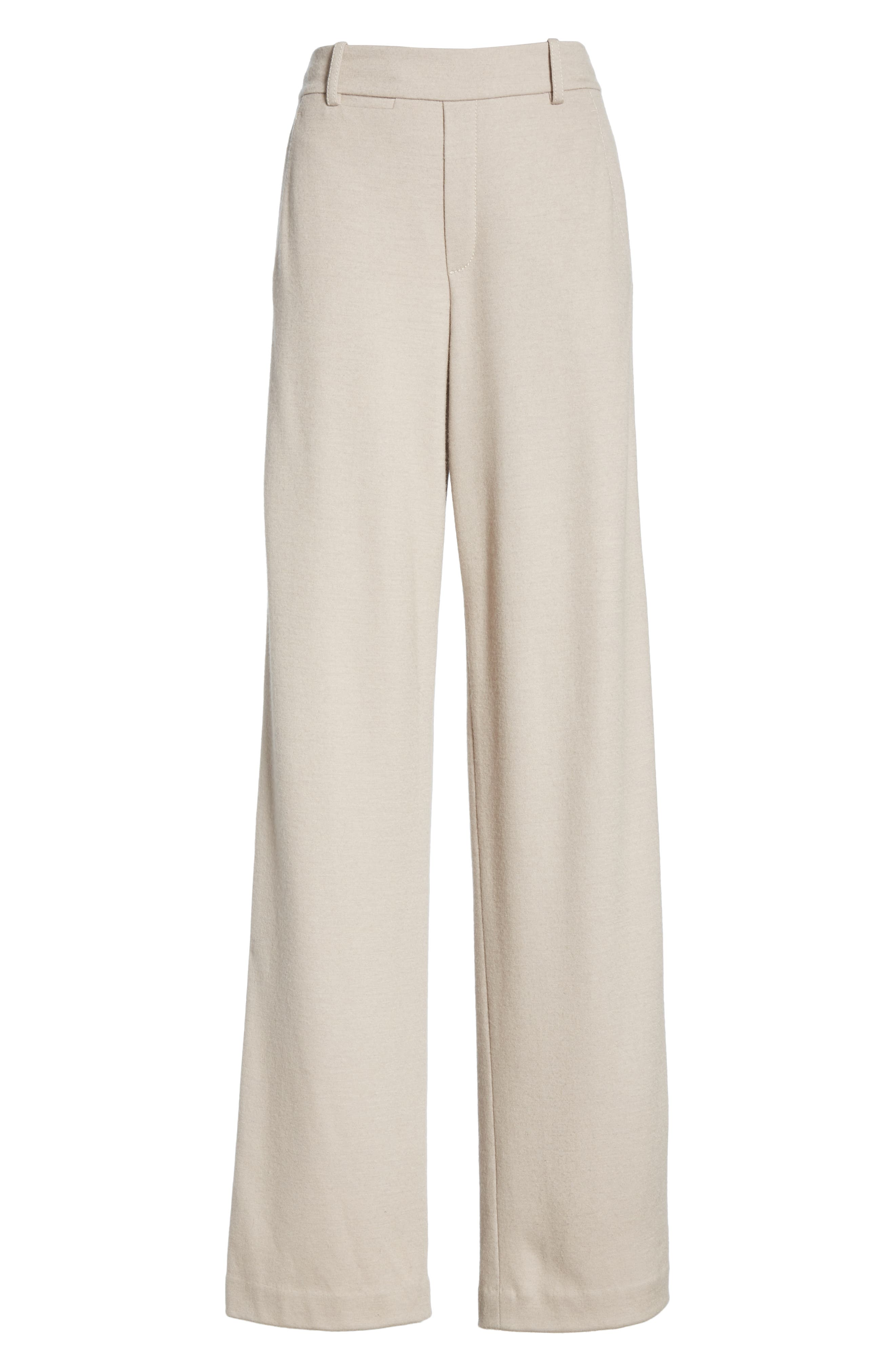VINCE, Cozy Wide Leg Pants, Alternate thumbnail 7, color, MARBLE