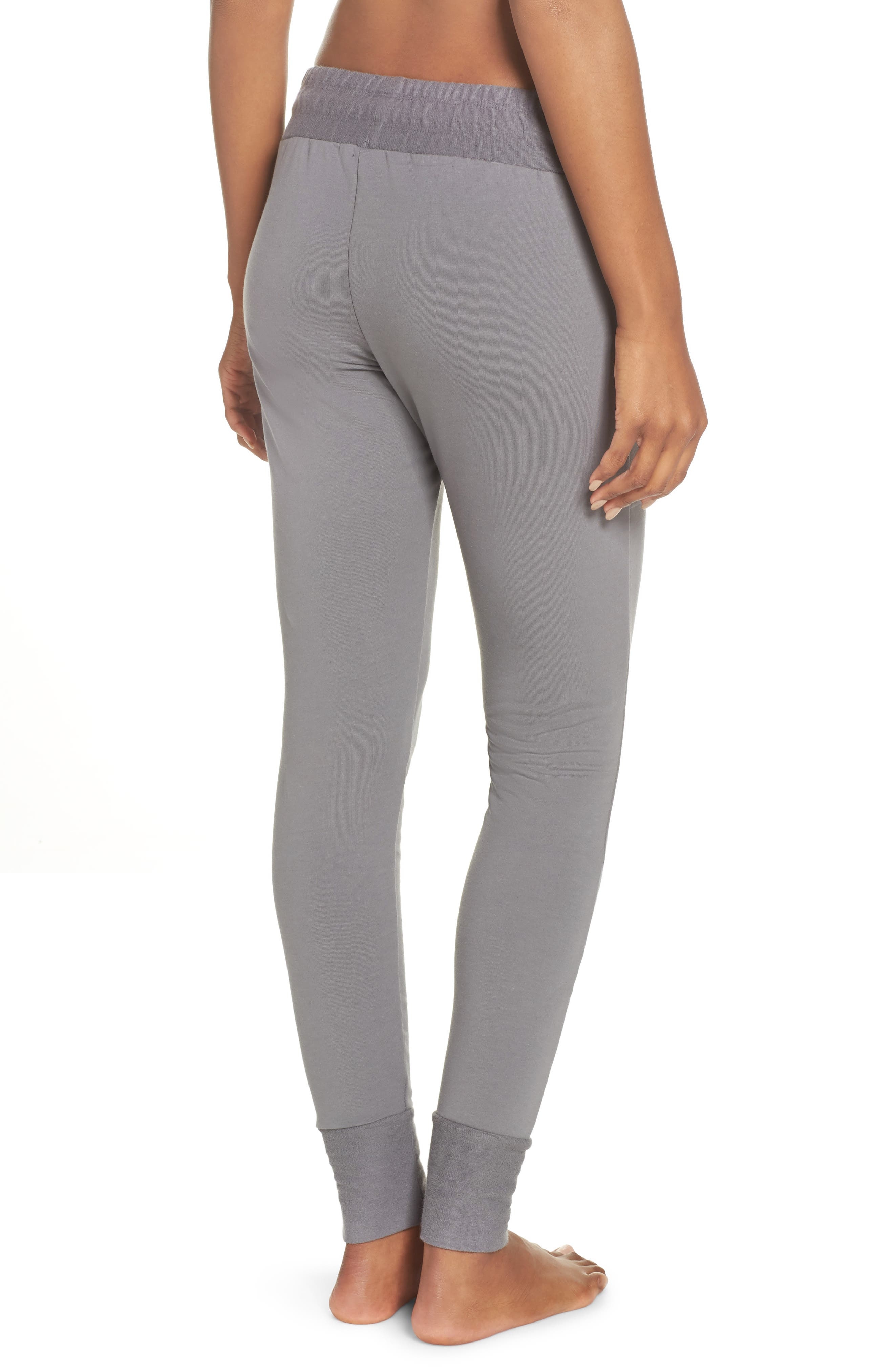 FREE PEOPLE MOVEMENT, Sunny Skinny Sweatpants, Alternate thumbnail 2, color, DARK GREY