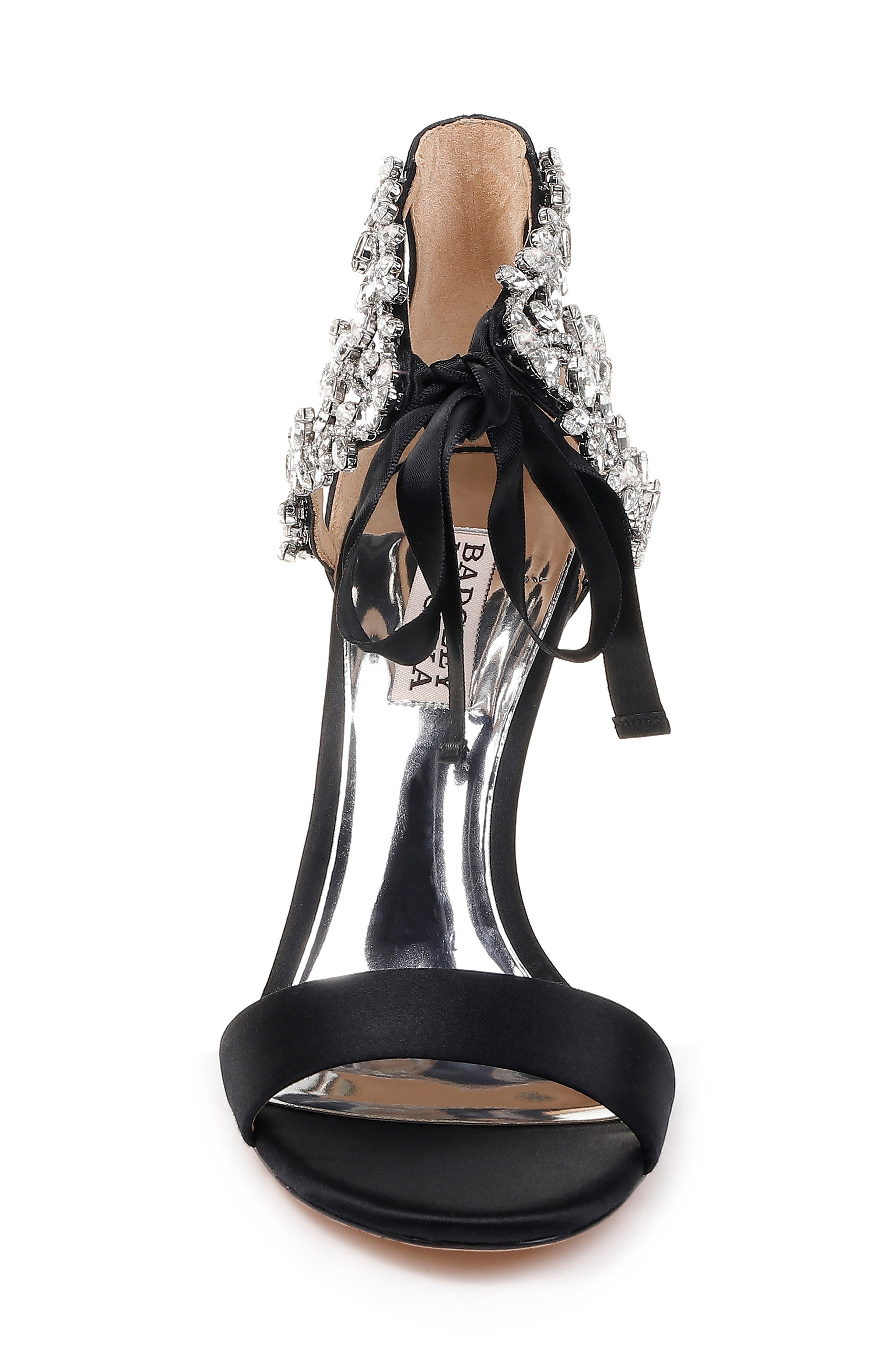 BADGLEY MISCHKA COLLECTION, Badgley Mischka Felicia Embellished Sandal, Alternate thumbnail 4, color, 015