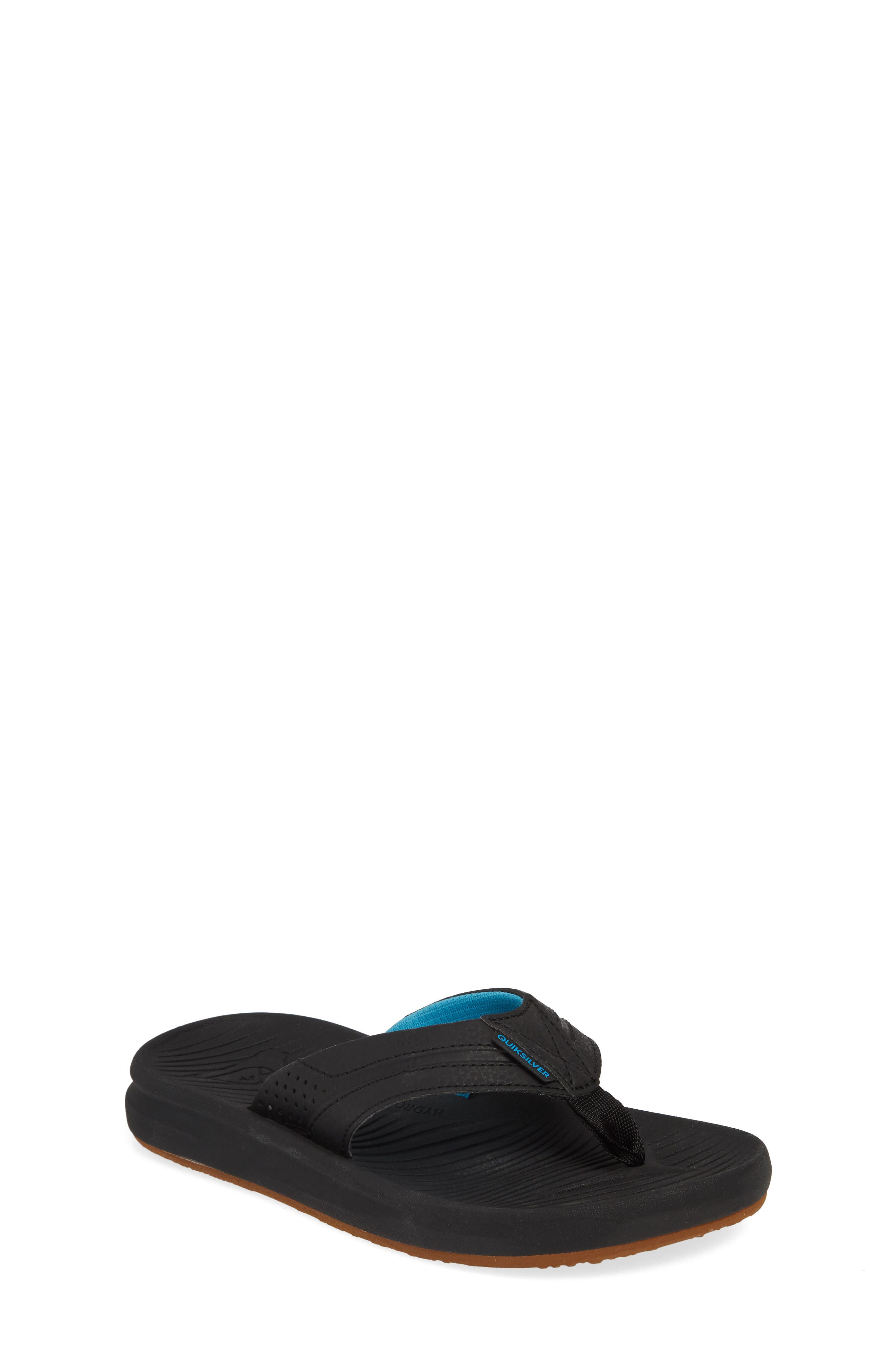 QUIKSILVER Oasis Flip Flop, Main, color, BLACK/ BLACK/ BROWN