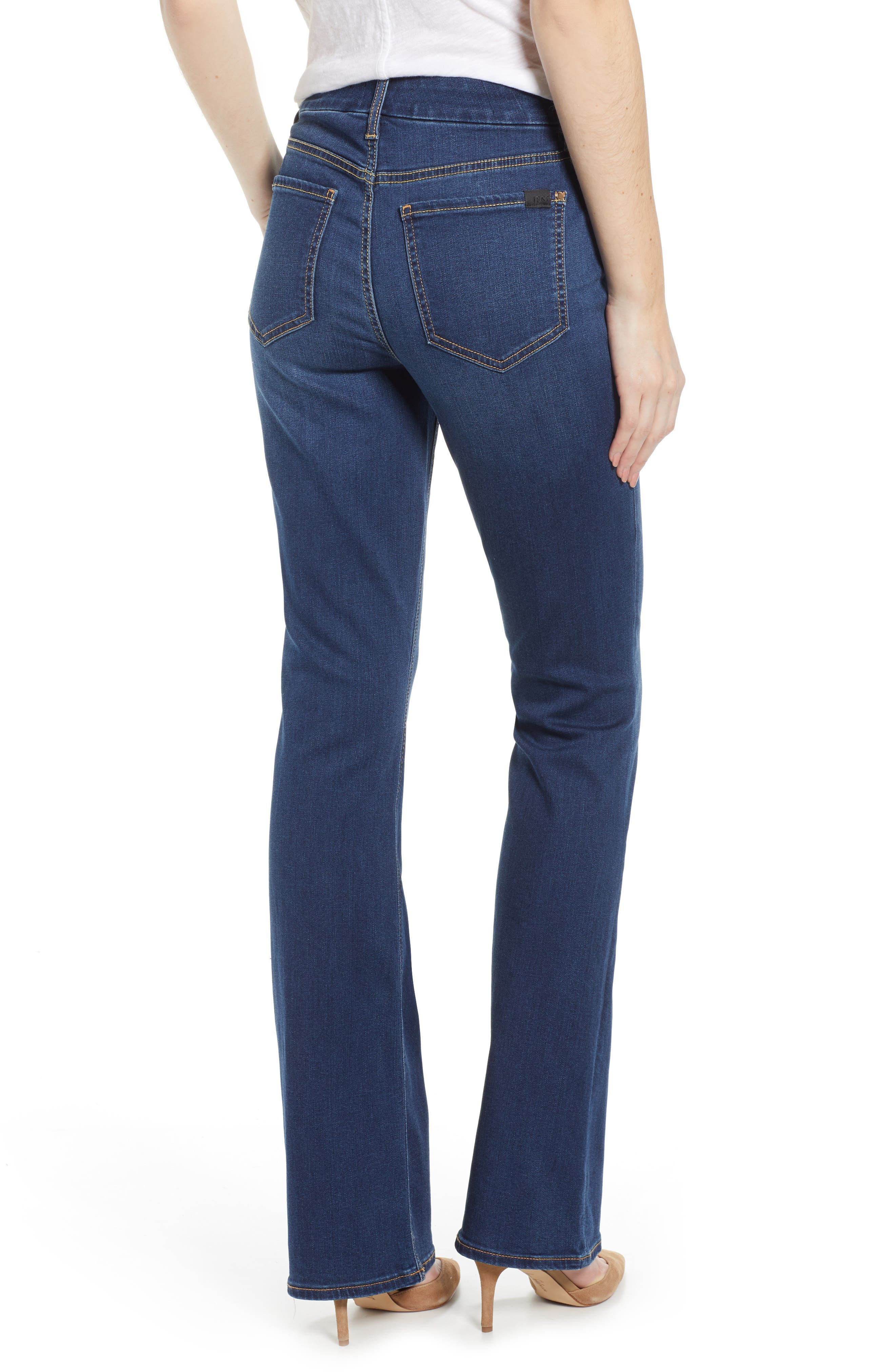JEN7 BY 7 FOR ALL MANKIND, Slim Bootcut Jeans, Alternate thumbnail 2, color, CLASSIC MEDIUM BLUE