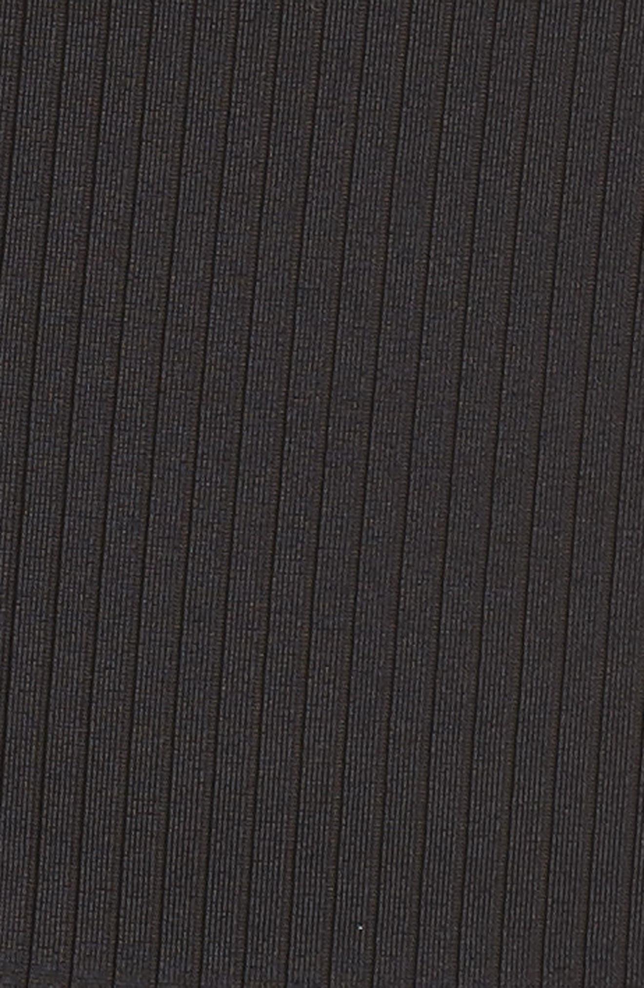 PUMA, Classics Quarter Zip Ribbed Top, Alternate thumbnail 6, color, 001