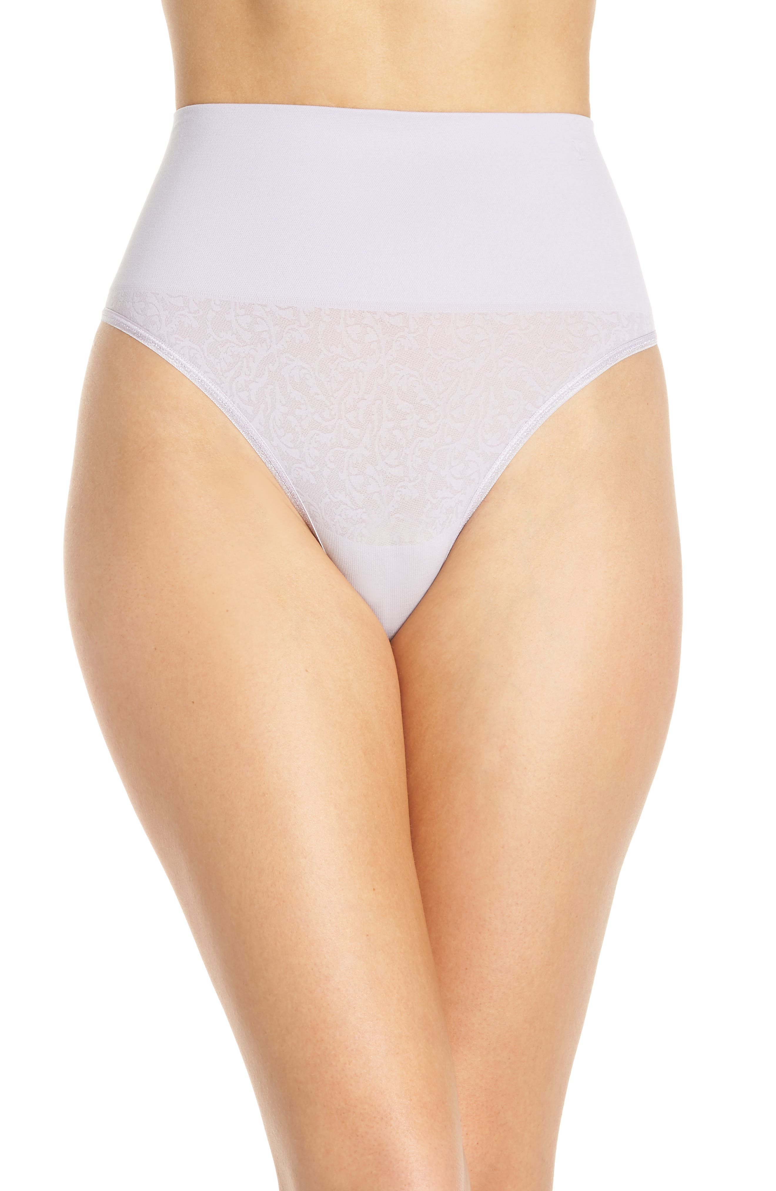 YUMMIE Ultralight Seamless Shaping Thong, Main, color, THISTLE W/ JACQUARD