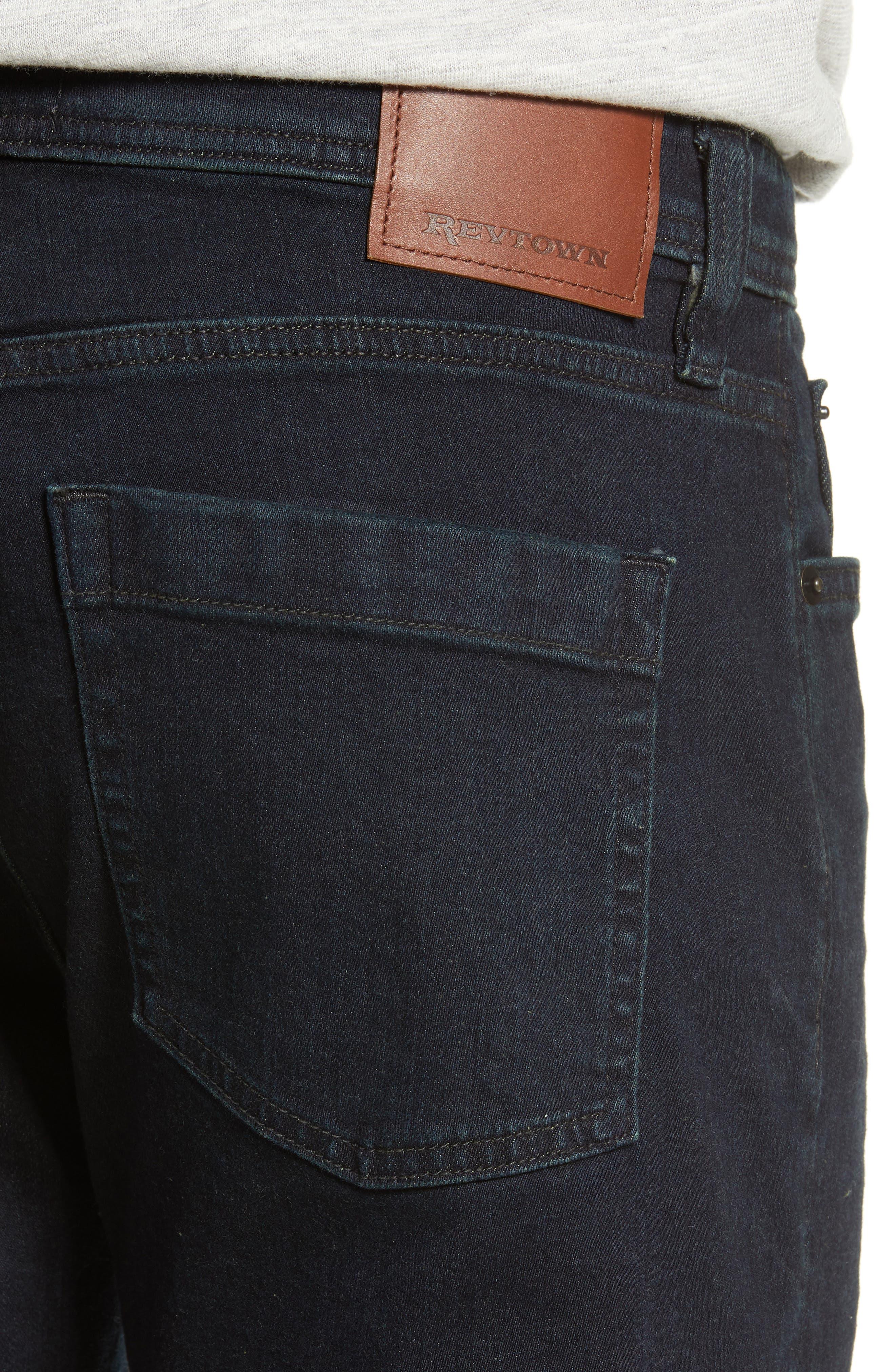 REVTOWN, Sharp Slim Fit Jeans, Alternate thumbnail 5, color, RINSE INDIGO