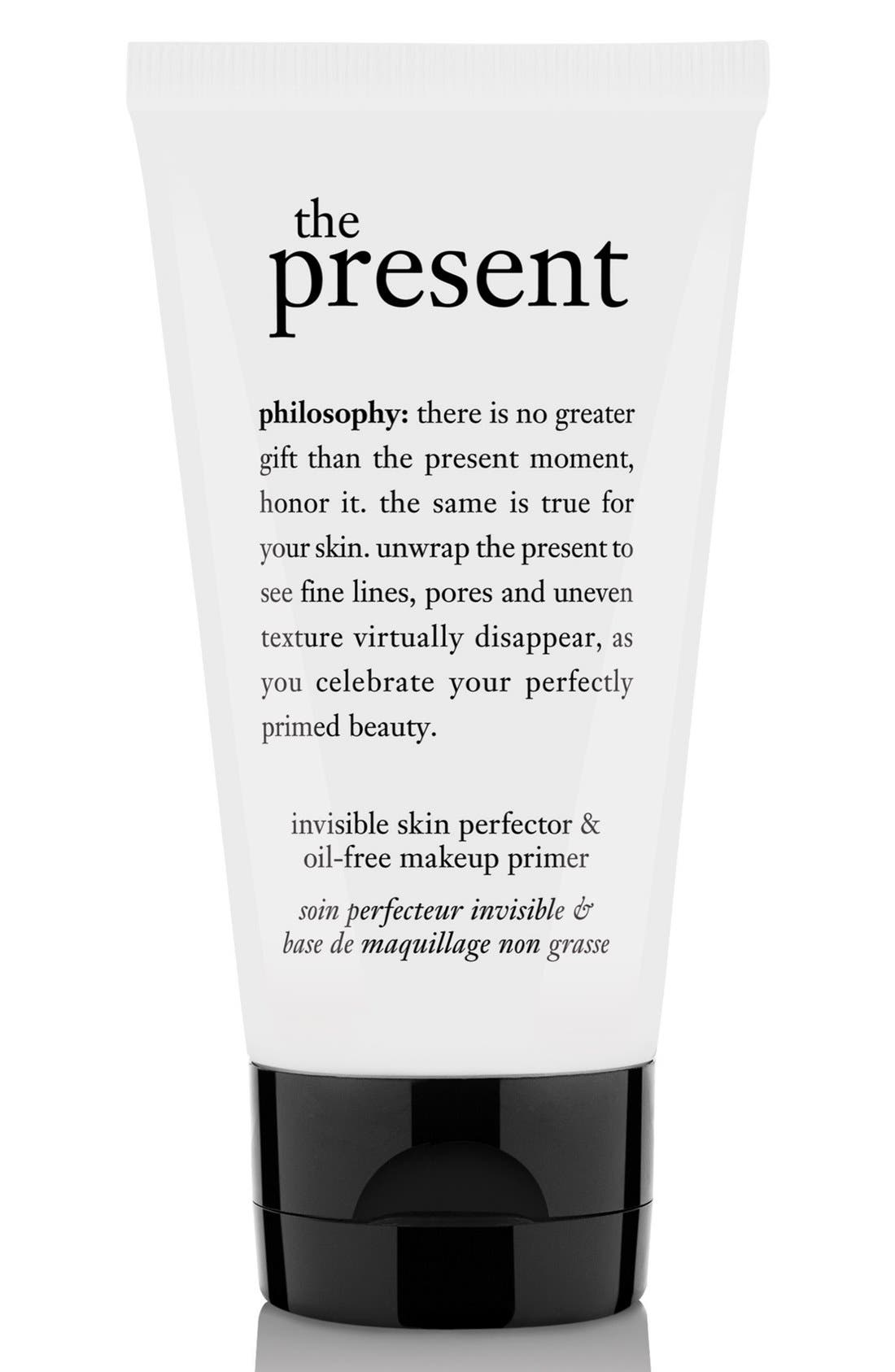 PHILOSOPHY, 'the present' skin perfector & oil-free makeup primer, Main thumbnail 1, color, 000