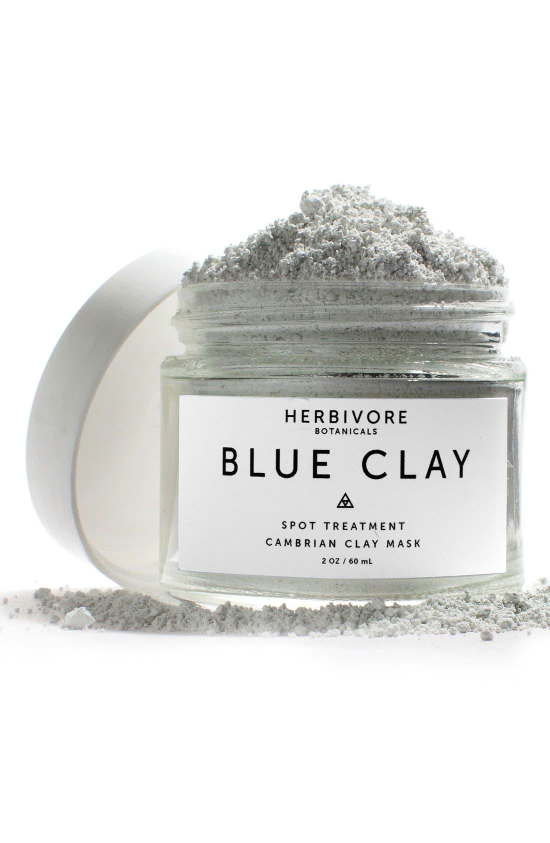 HERBIVORE BOTANICALS, Blue Clay Spot Treatment Mask, Alternate thumbnail 4, color, NO COLOR