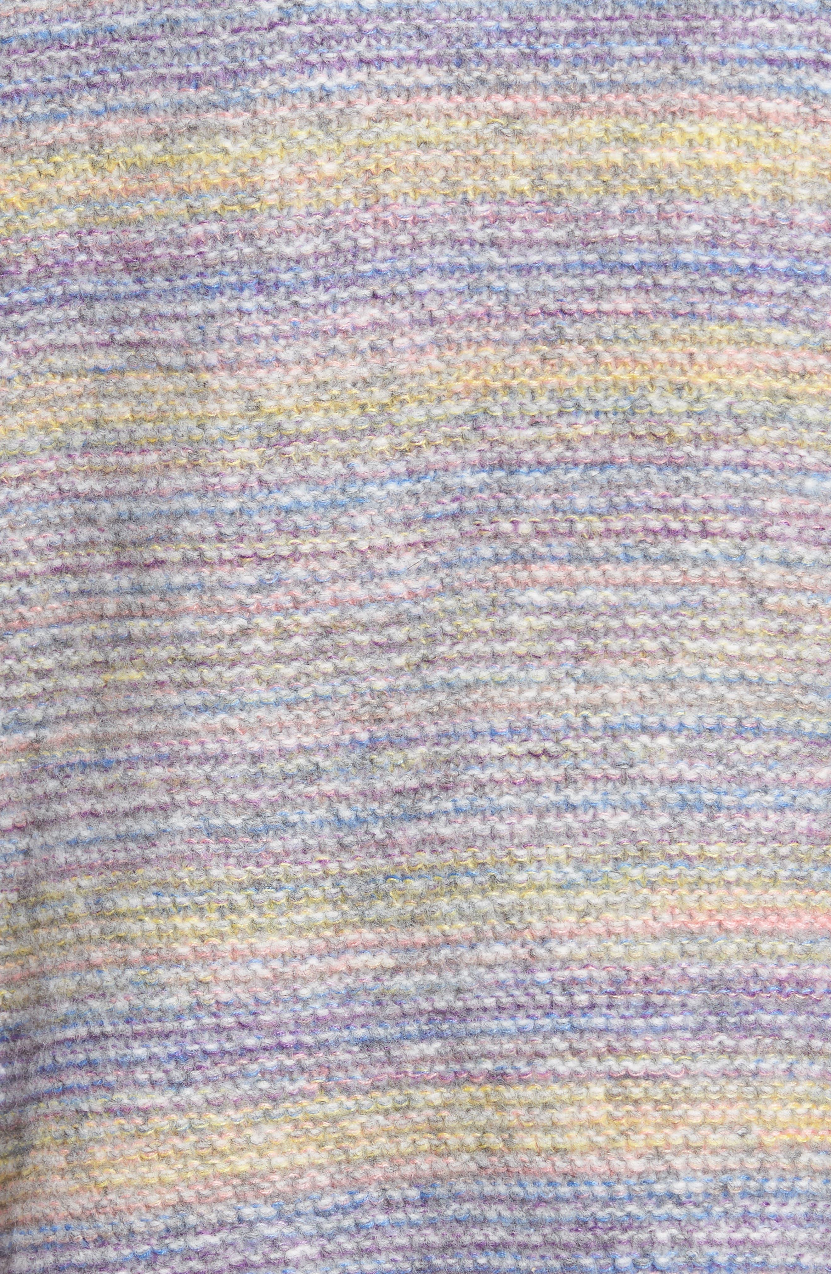 PROSPERITY DENIM, Rainbow Marl Sweater, Alternate thumbnail 5, color, YELLOW