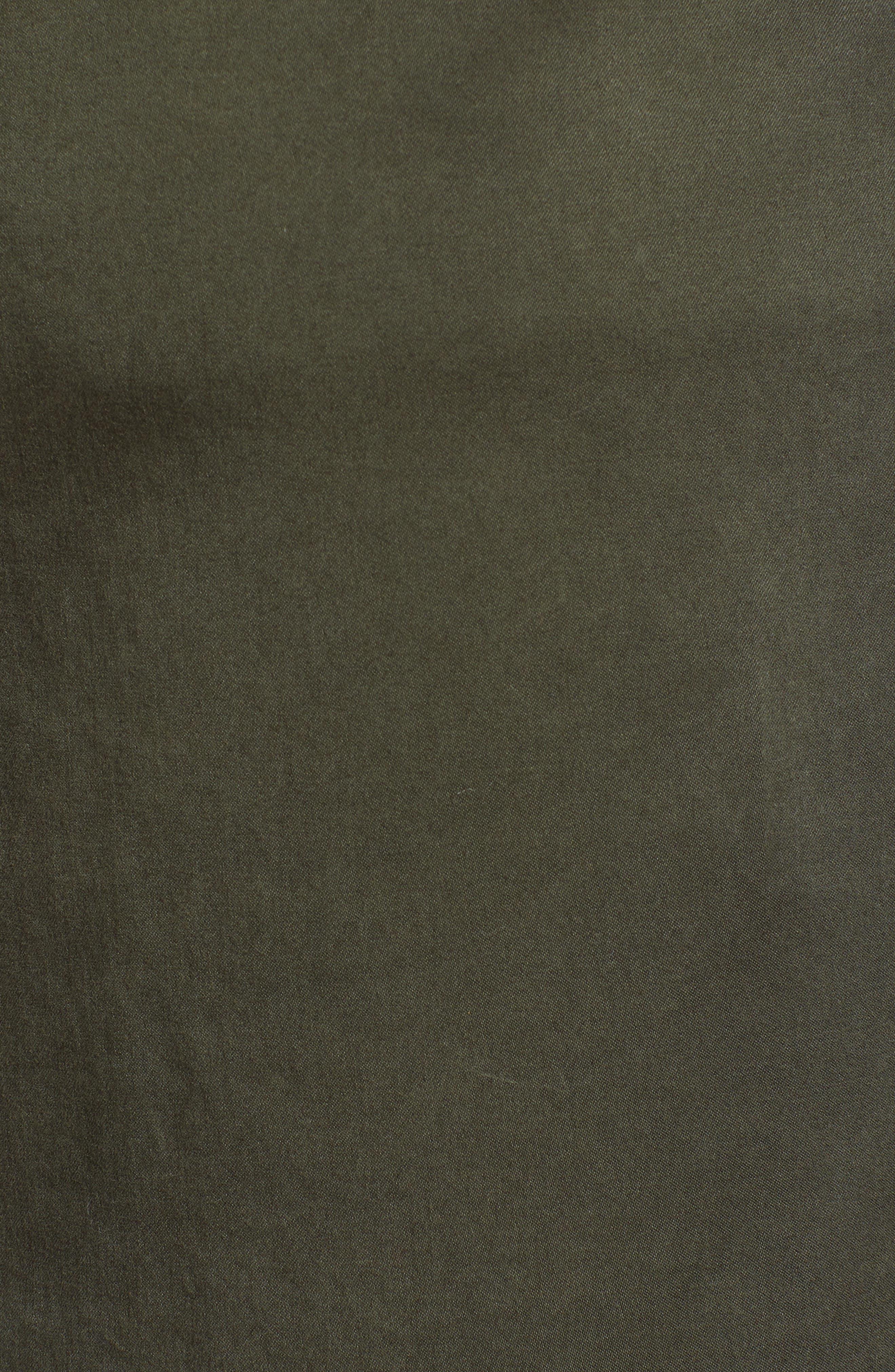 CASLON<SUP>®</SUP>, Paperbag Waist Skirt, Alternate thumbnail 5, color, GREEN BEETLE