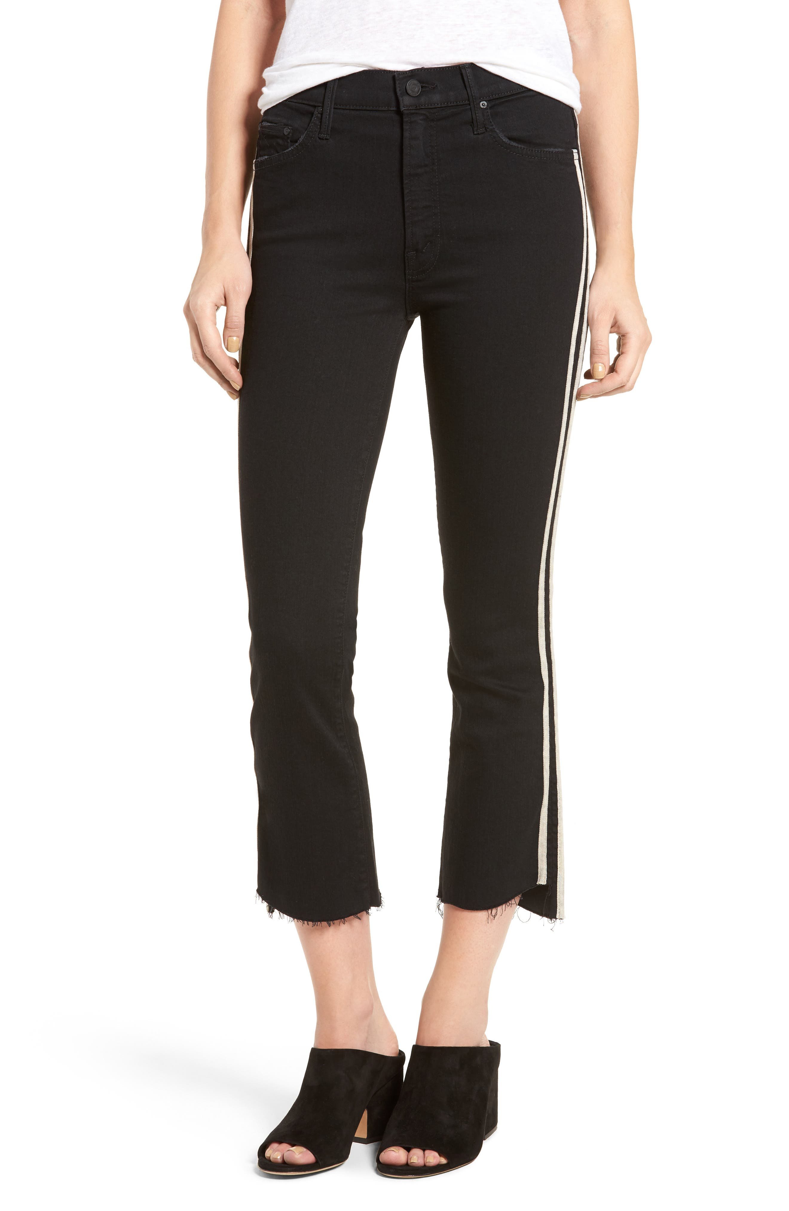 MOTHER, The Insider Crop Jeans, Main thumbnail 1, color, GUILTY RACER