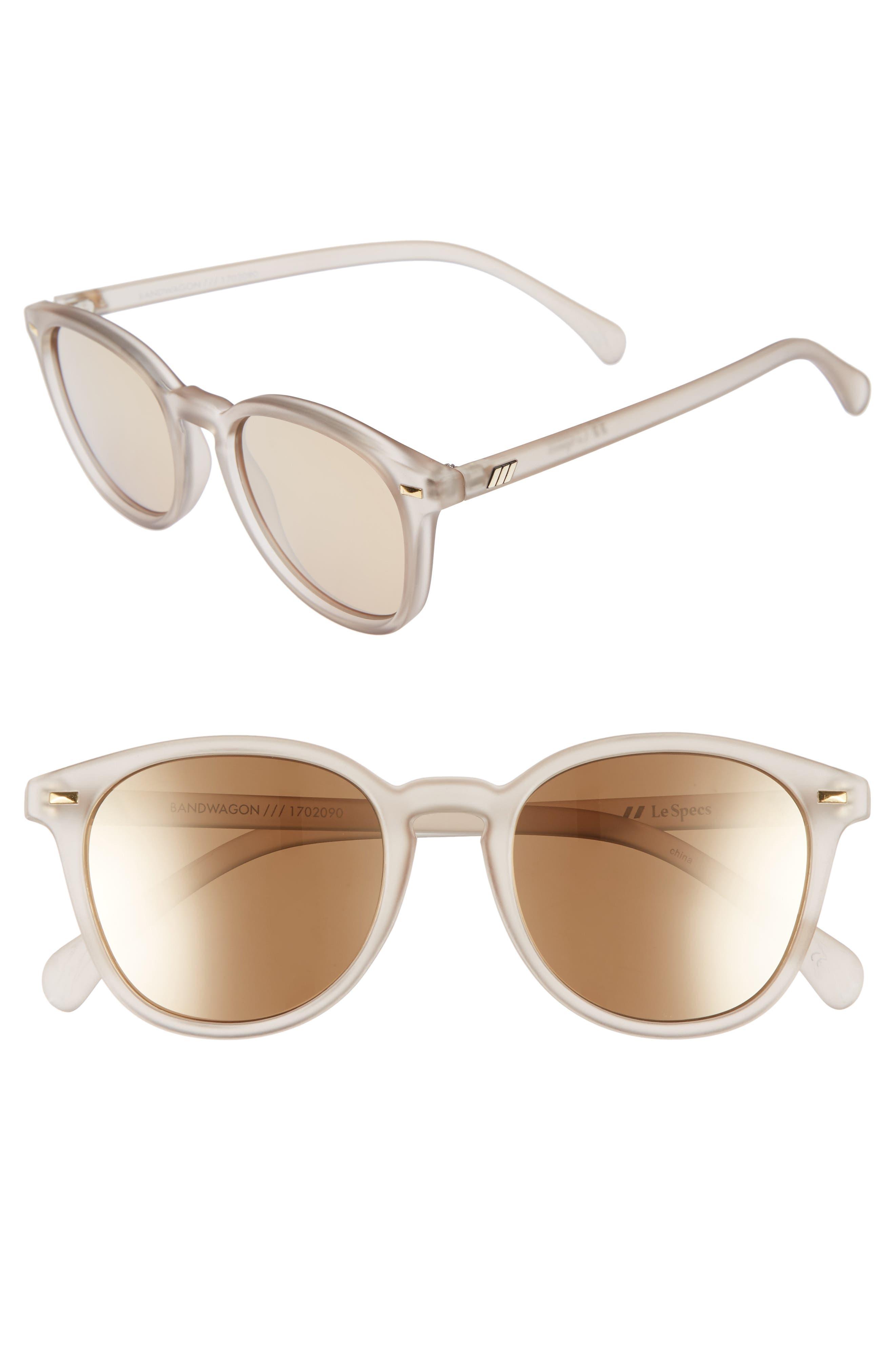LE SPECS, Bandwagon 51mm Sunglasses, Main thumbnail 1, color, MATTE STONE