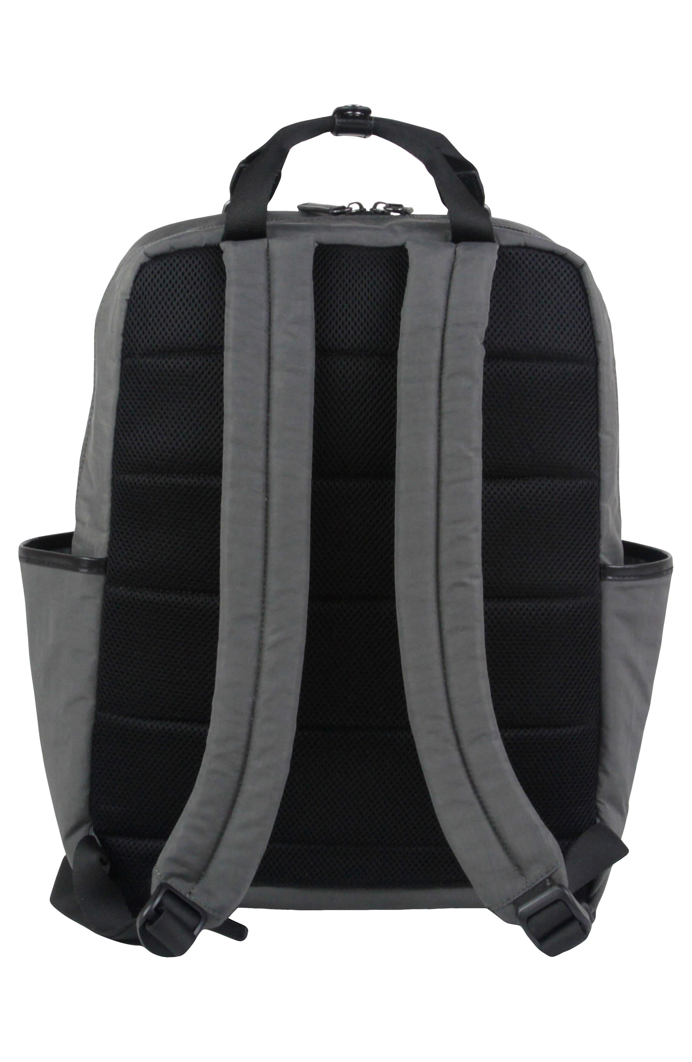 TWELVELITTLE, 'Courage' Unisex Backpack Diaper Bag, Alternate thumbnail 2, color, DARK GREY
