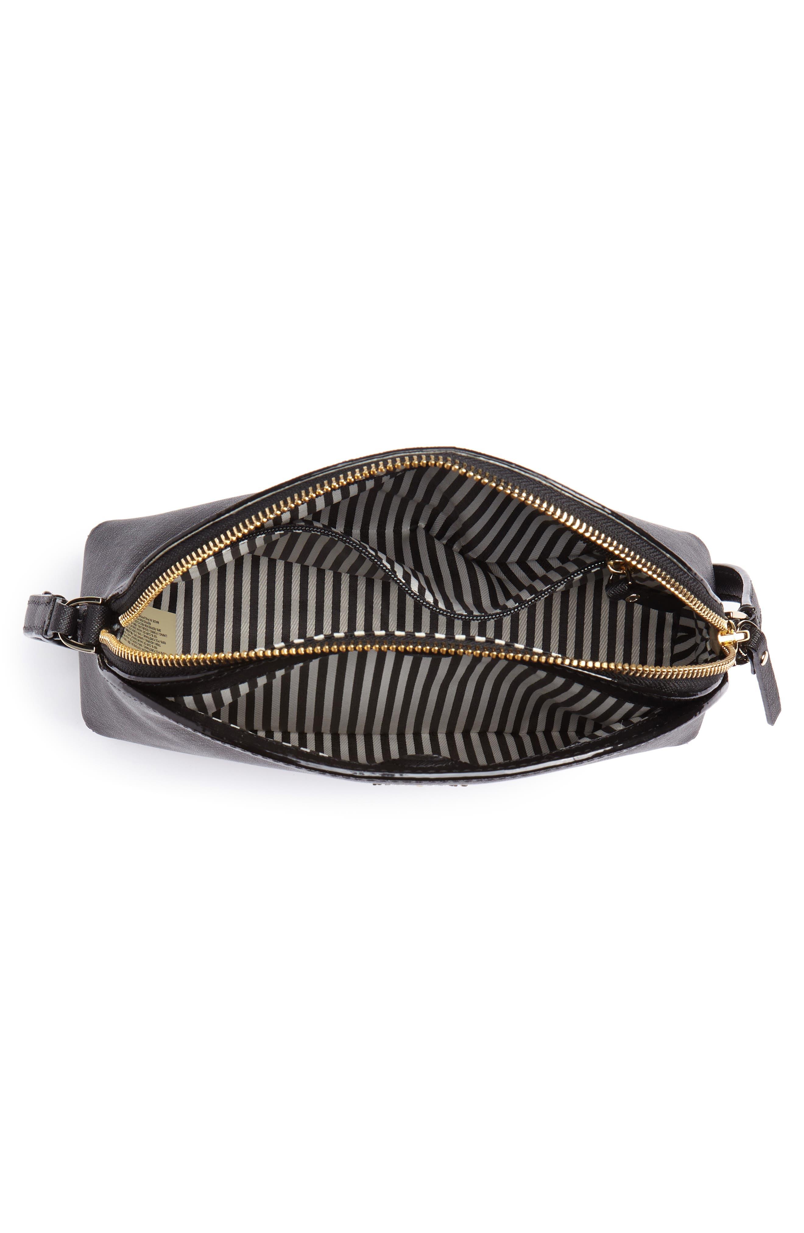 KATE SPADE NEW YORK, cameron street large hilli leather crossbody bag, Alternate thumbnail 4, color, 001
