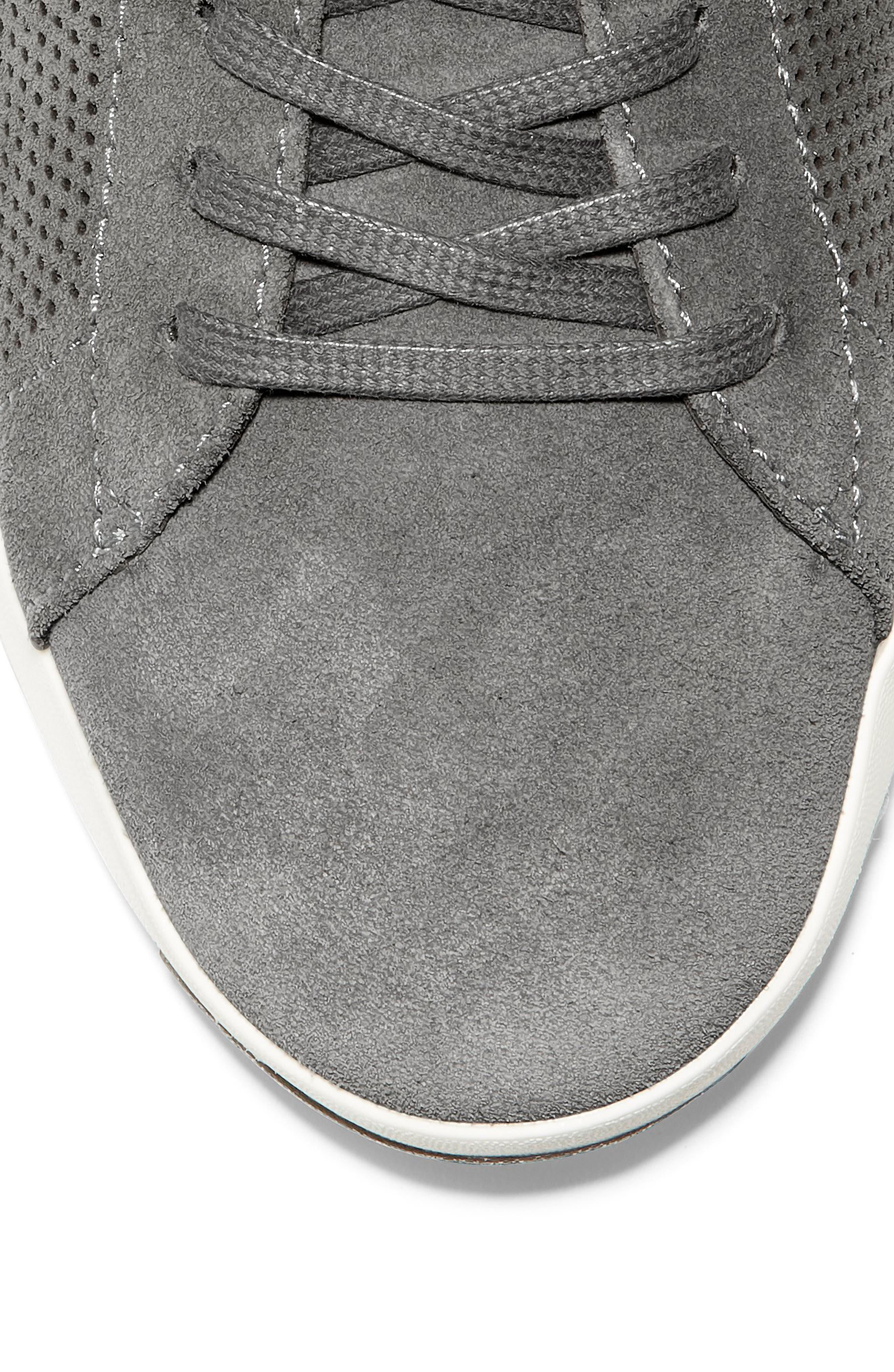 COLE HAAN, GrandPro Tennis Sneaker, Alternate thumbnail 7, color, GREY SUEDE
