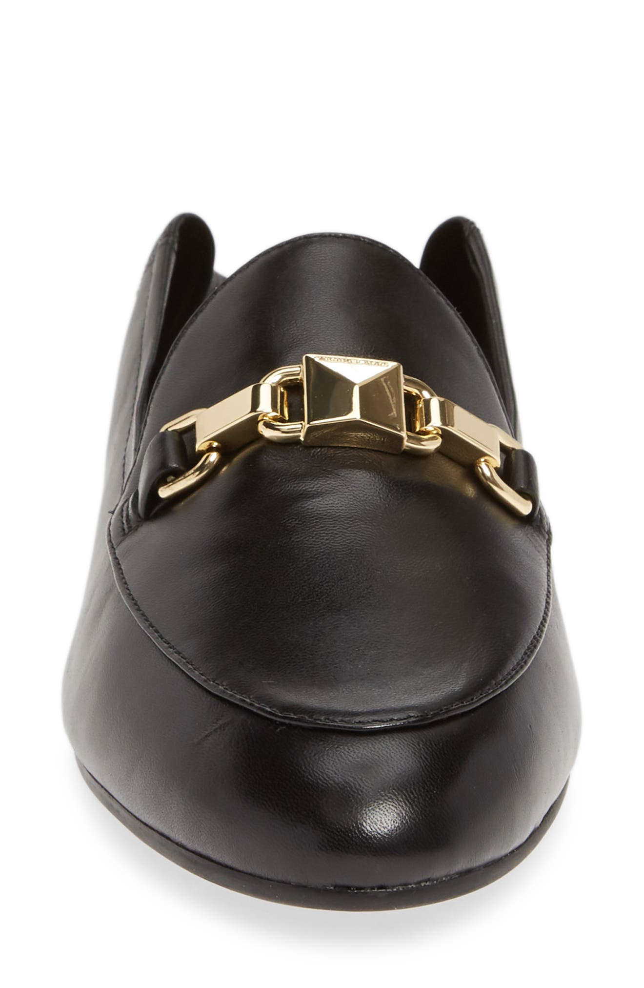 MICHAEL MICHAEL KORS, Charlton Convertible Loafer, Alternate thumbnail 5, color, BLACK NAPPA LEATHER
