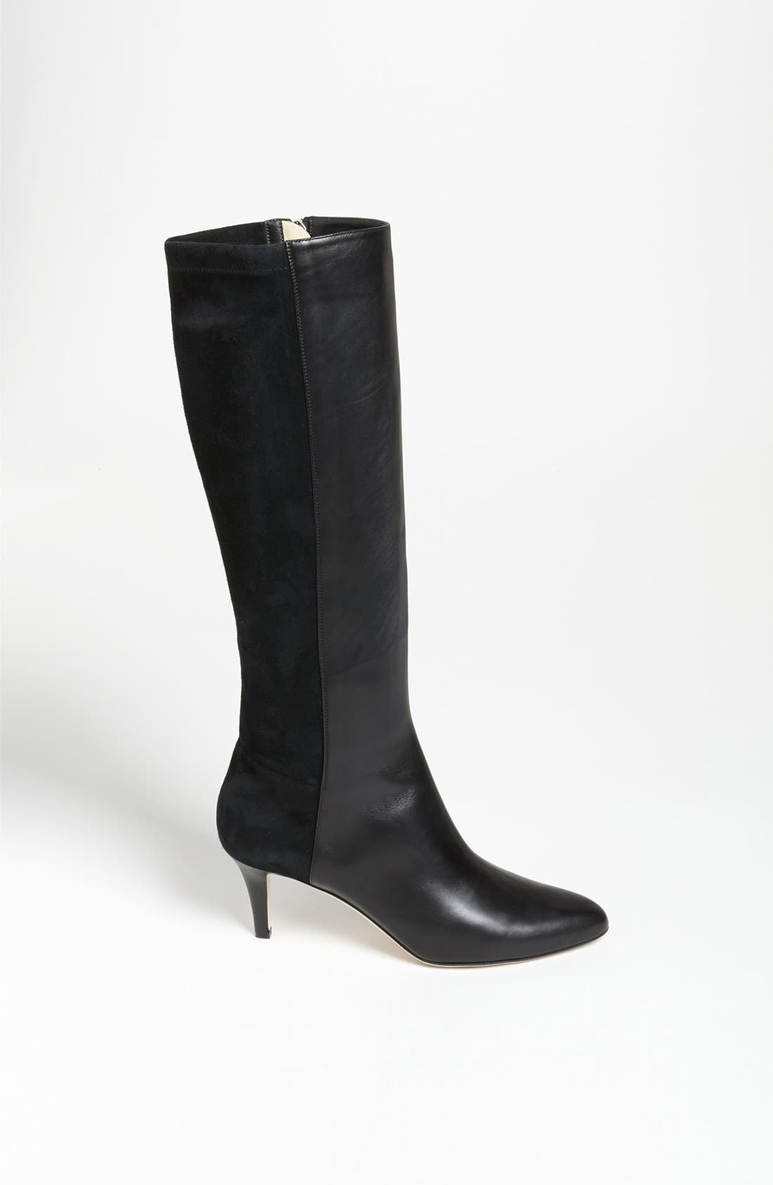 JIMMY CHOO, 'Aiden' Boot, Alternate thumbnail 4, color, 001
