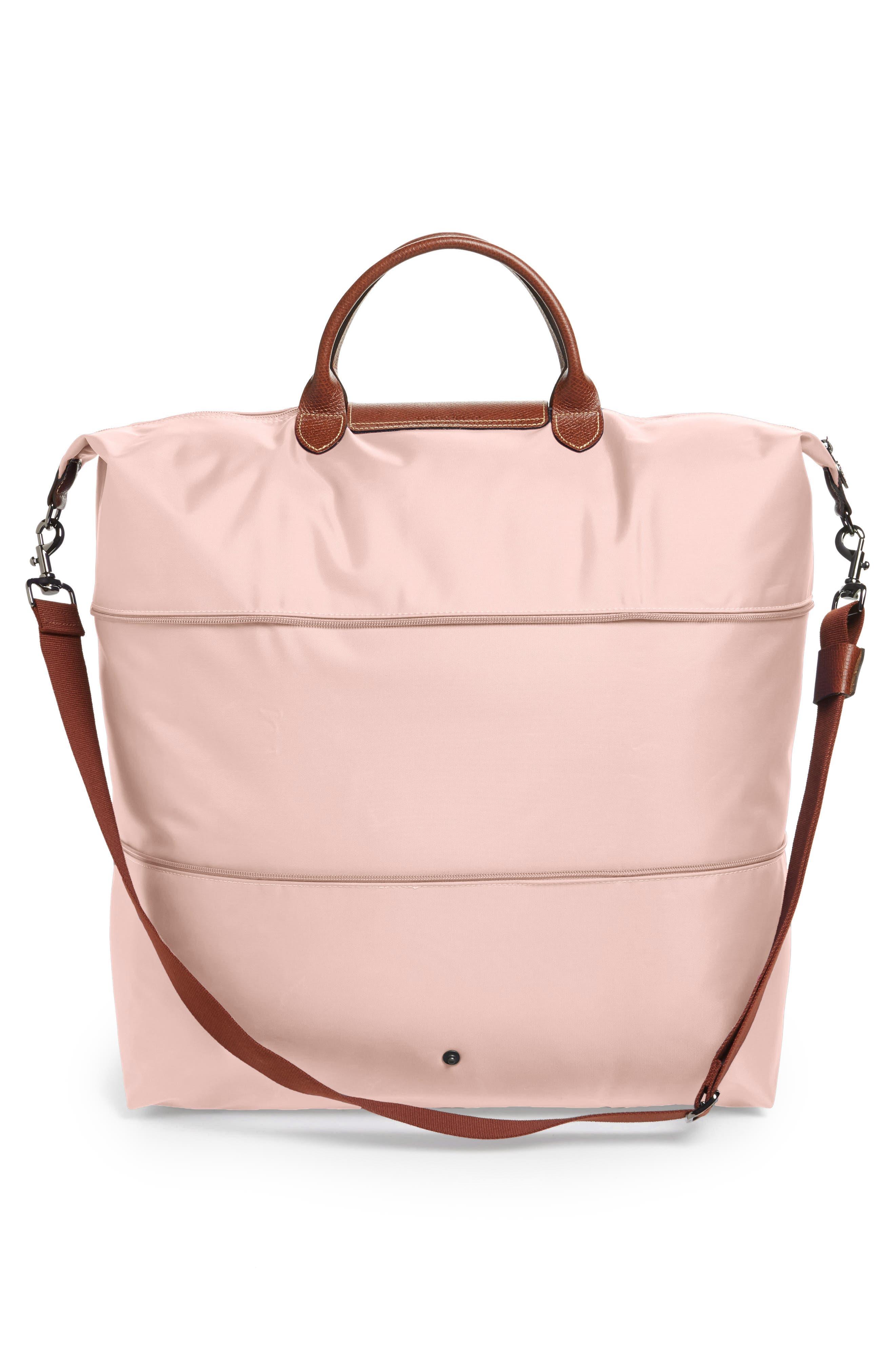 LONGCHAMP, Le Pliage 21-Inch Expandable Travel Bag, Alternate thumbnail 4, color, PINK ICE