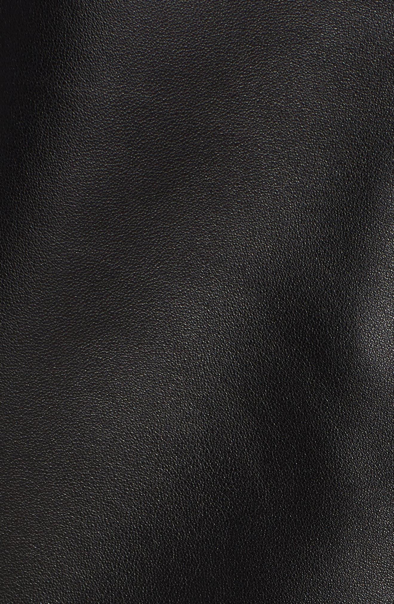 MACKAGE, Fenton Leather Moto Jacket, Alternate thumbnail 6, color, BLACK