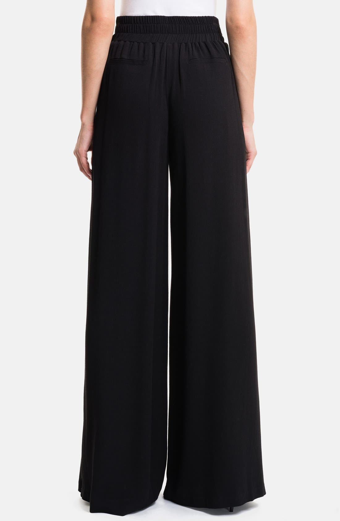 1.STATE, High Waist Wide Leg Trousers, Alternate thumbnail 2, color, 001
