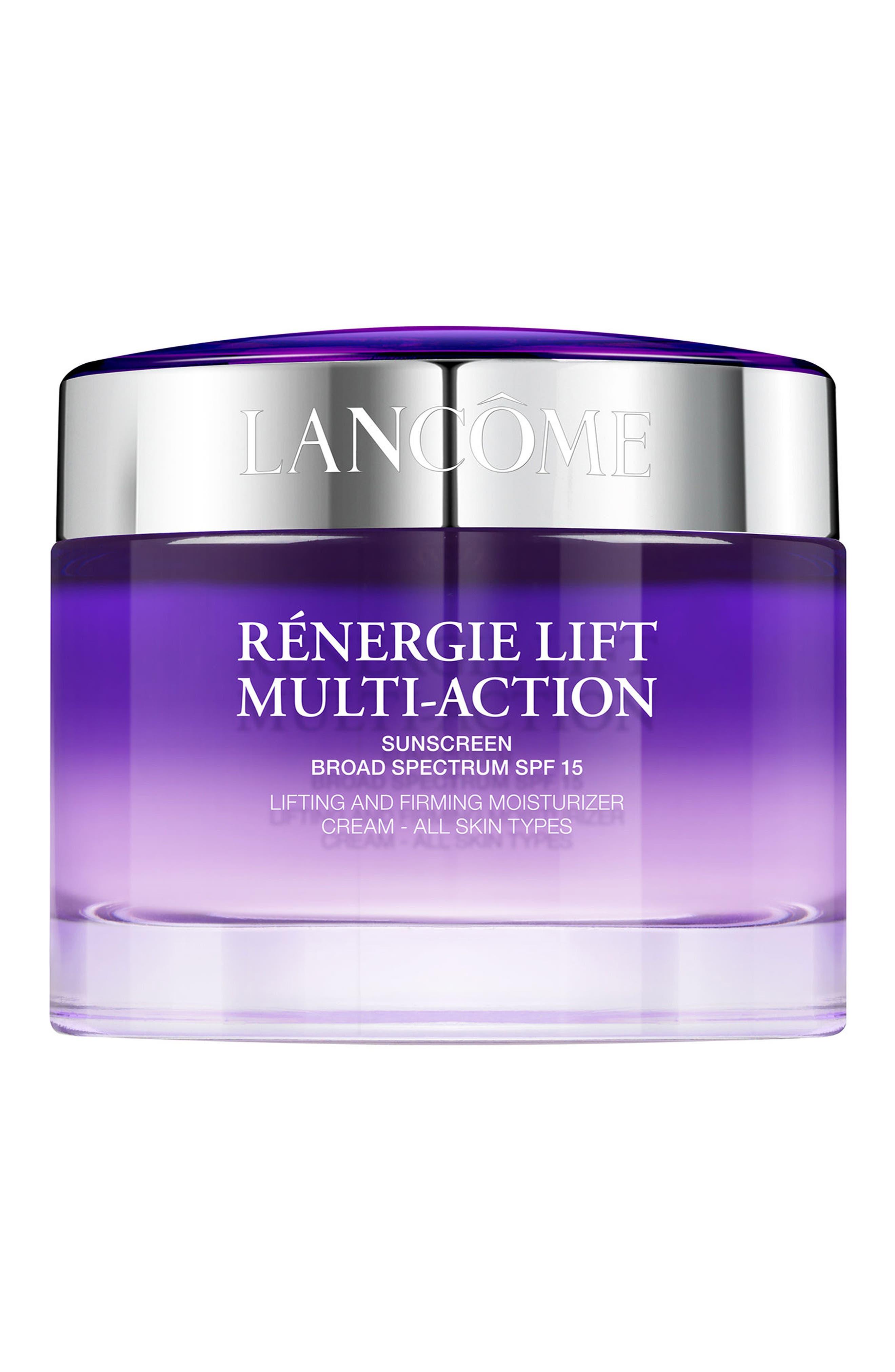 LANCÔME, Rénergie Lift Multi Action Moisturizer Cream SPF 15 for All Skin Types, Main thumbnail 1, color, NO COLOR