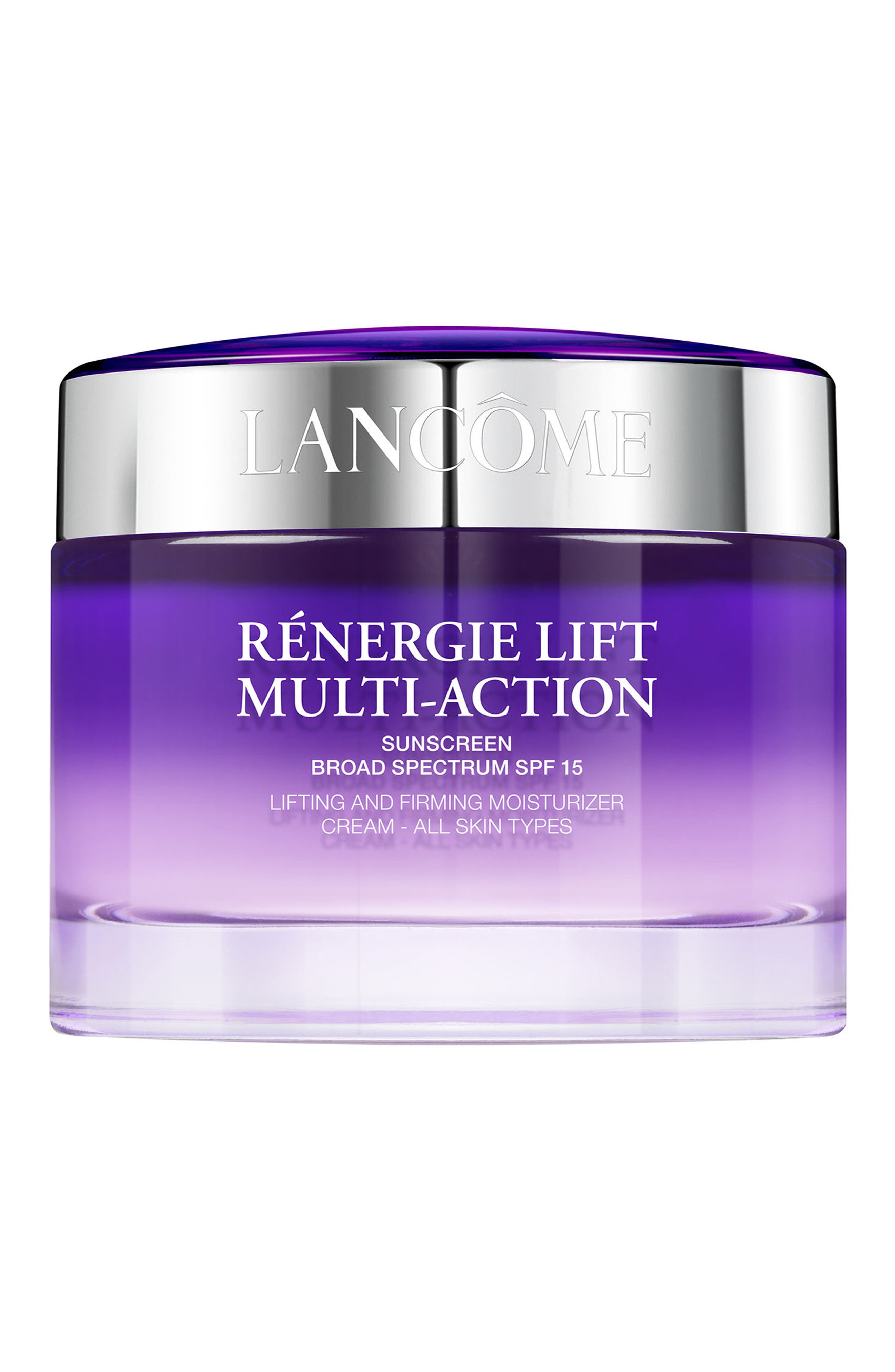 LANCÔME Rénergie Lift Multi Action Moisturizer Cream SPF 15 for All Skin Types, Main, color, NO COLOR